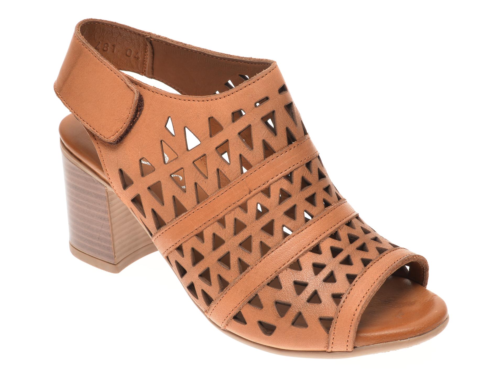 Sandale DIVAS maro, 409481, din piele naturala