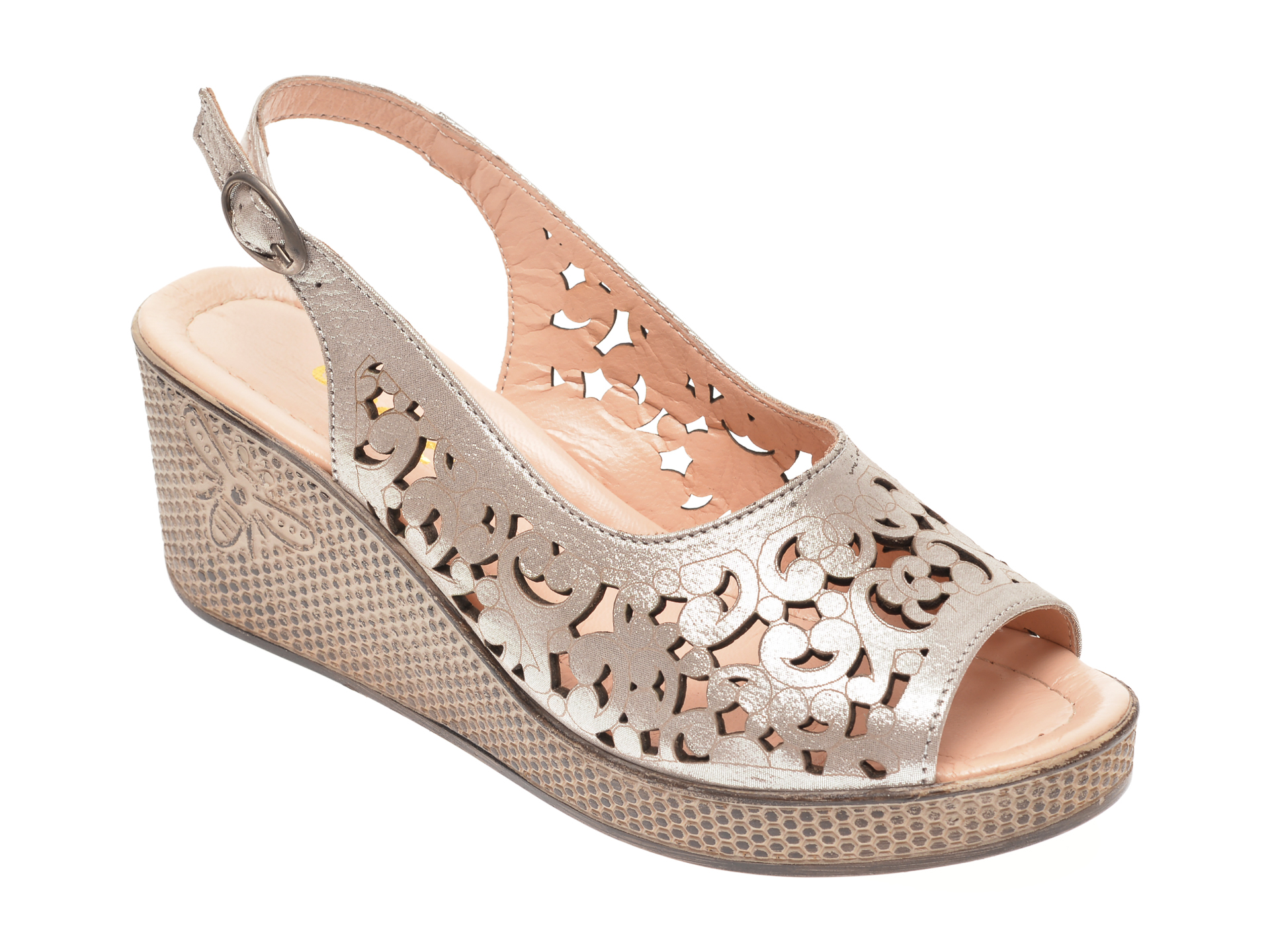 Sandale ENDICAN maro, K1211, din piele naturala