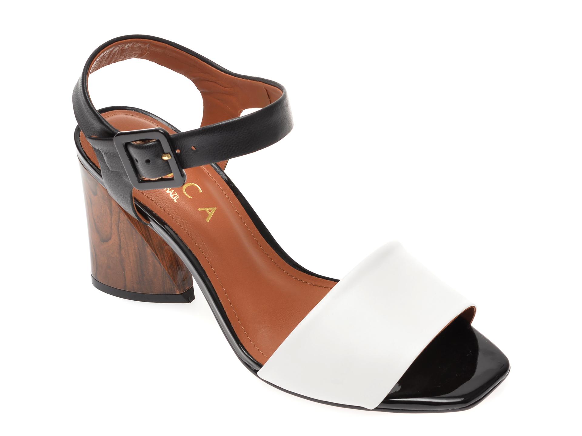 Sandale EPICA alb-negru, 1595515, din piele naturala