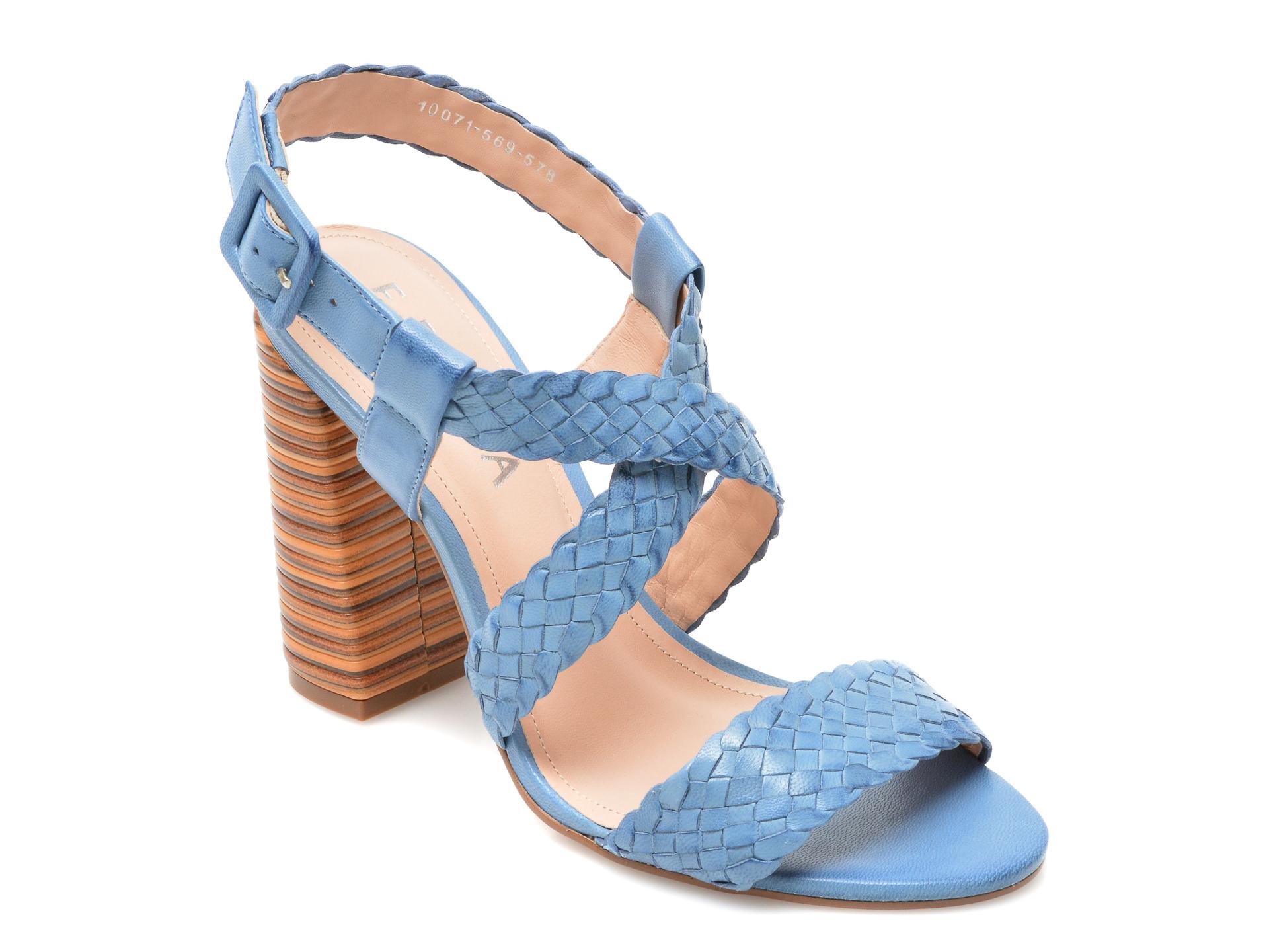 Sandale EPICA albastre, 1007678, din piele naturala imagine otter.ro 2021