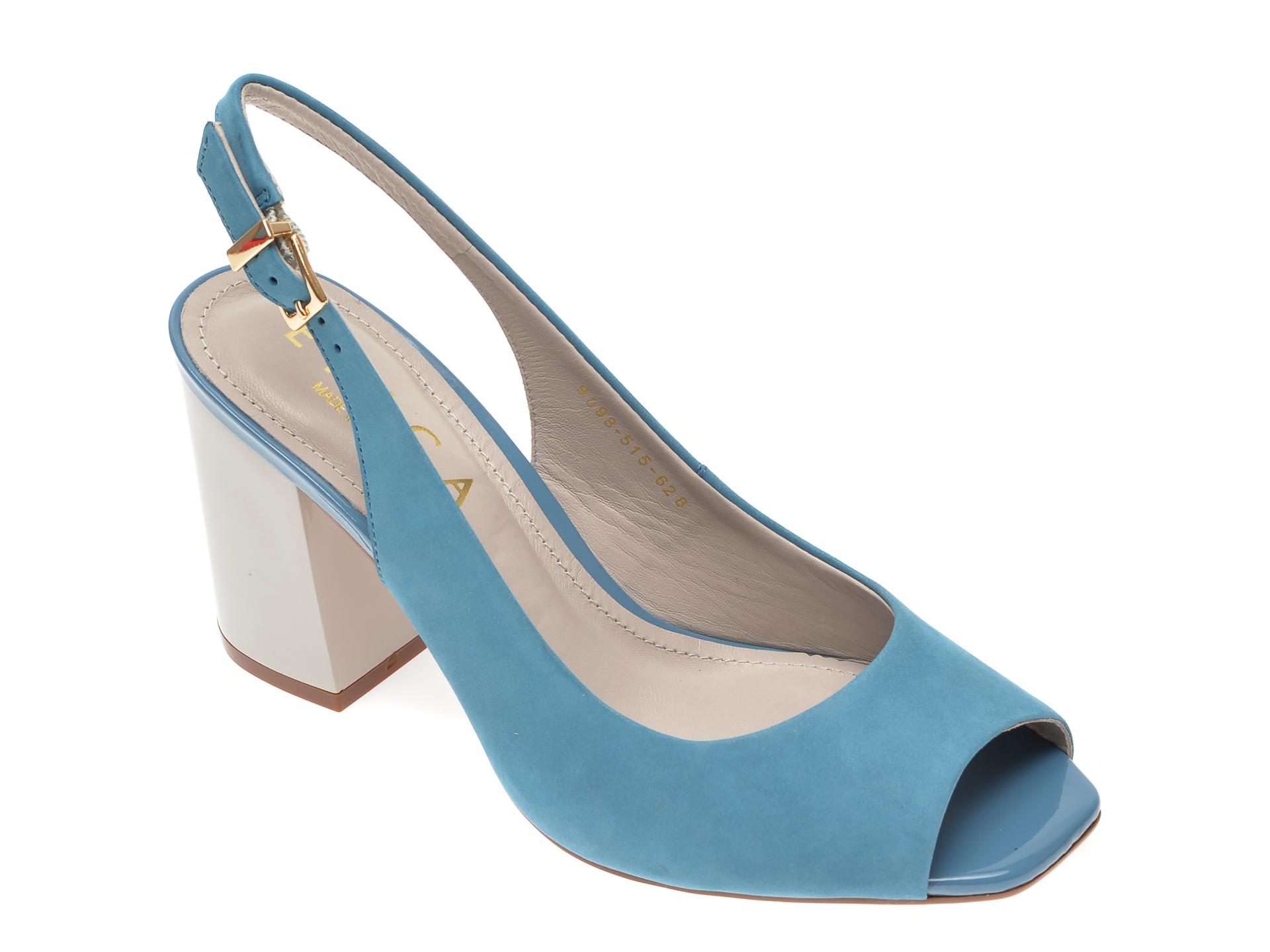 Sandale EPICA albastre, 9098515, din nabuc