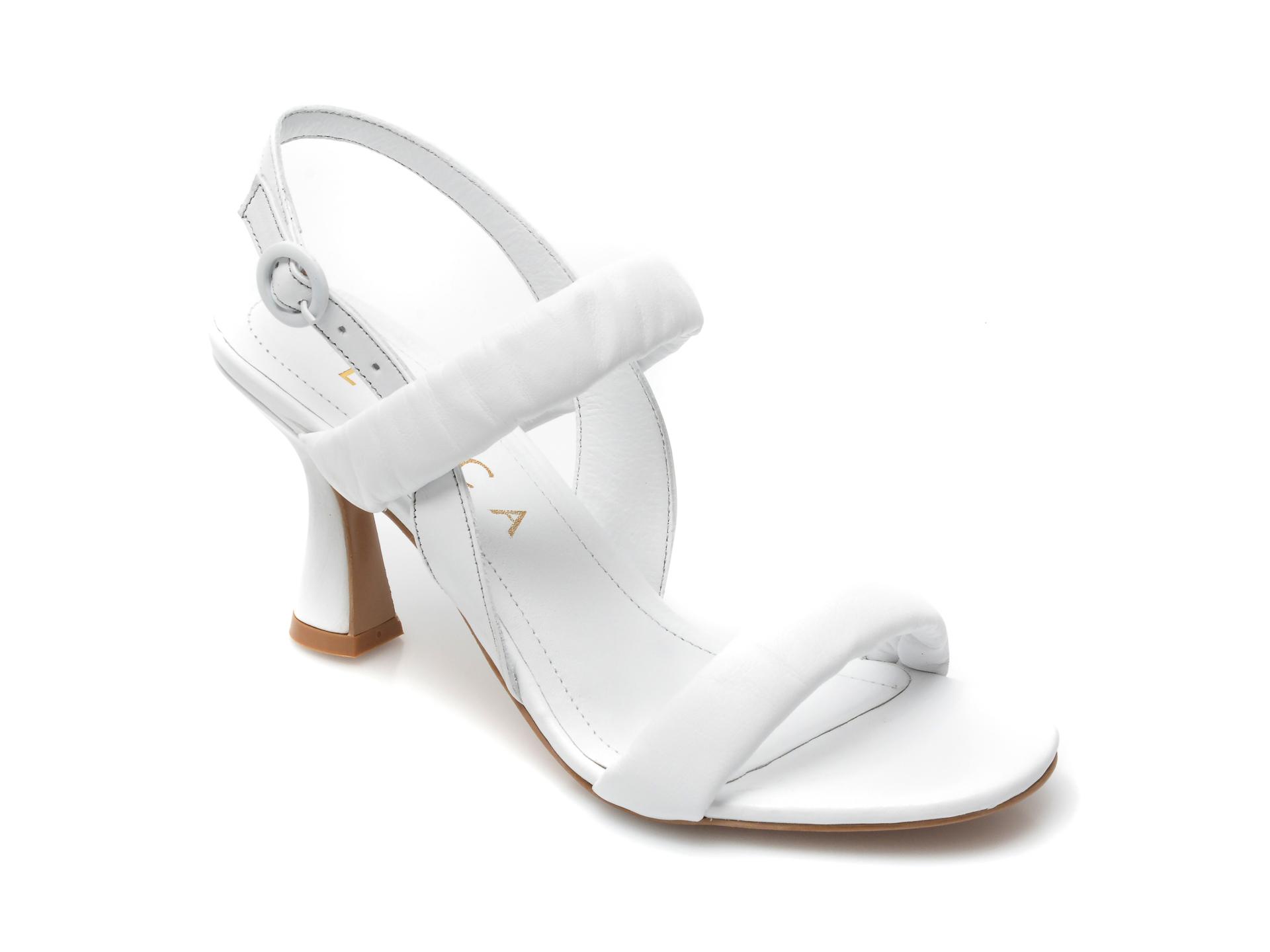 Sandale EPICA albe, 4114, din piele naturala imagine otter.ro