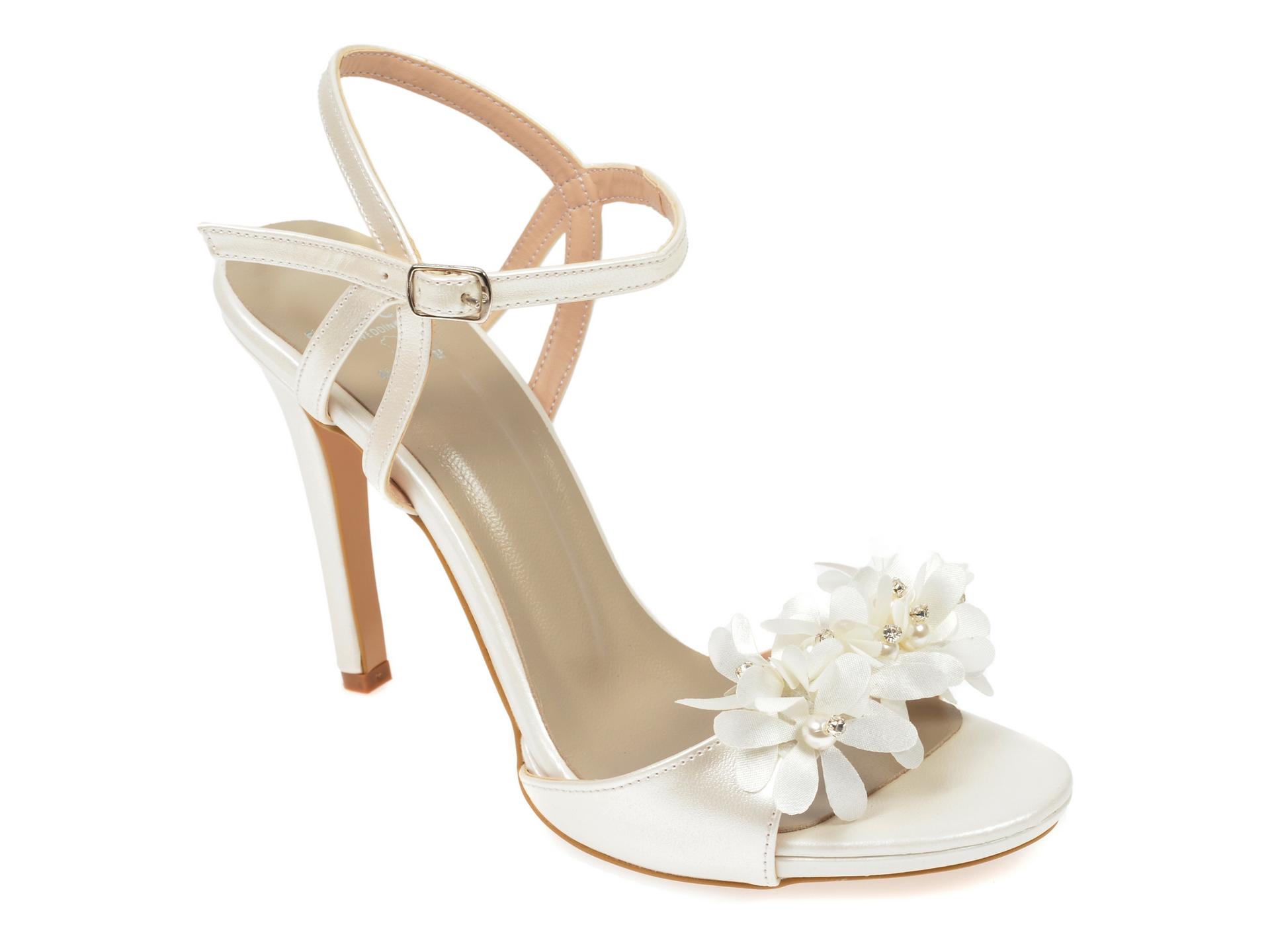 Sandale EPICA albe, 5833029, din piele ecologica
