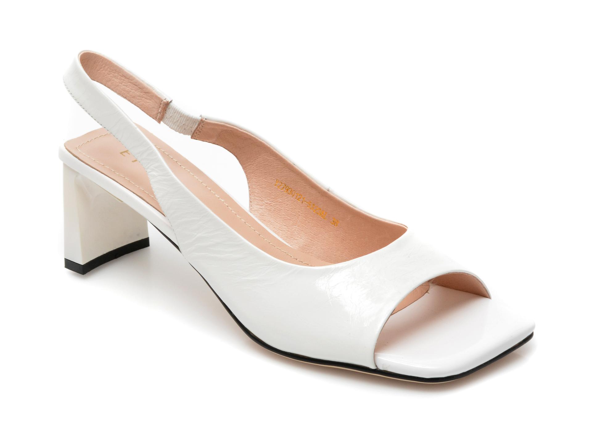 Sandale EPICA albe, Y2793Q1, din piele naturala