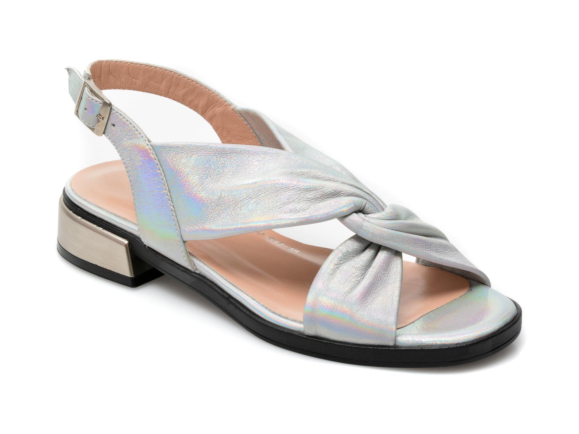 Sandale EPICA argintii, 193027, din piele naturala imagine otter.ro 2021