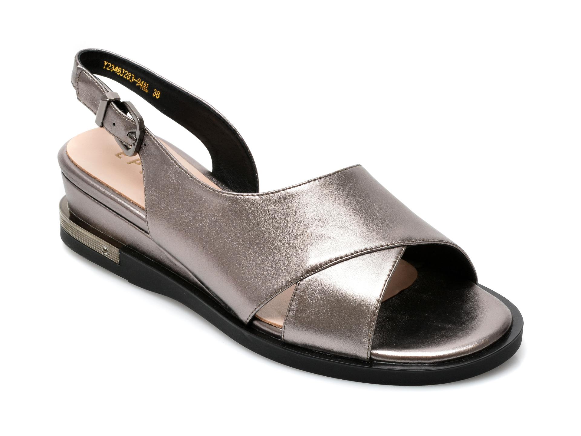 Sandale EPICA argintii, Y2346J2, din piele naturala imagine otter.ro 2021