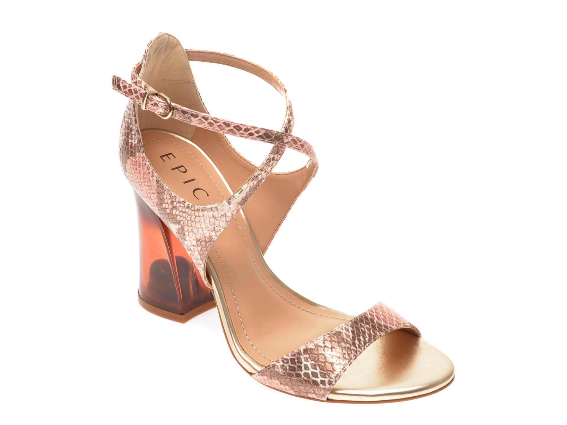Sandale EPICA aurii, 920321, din piele ecologica