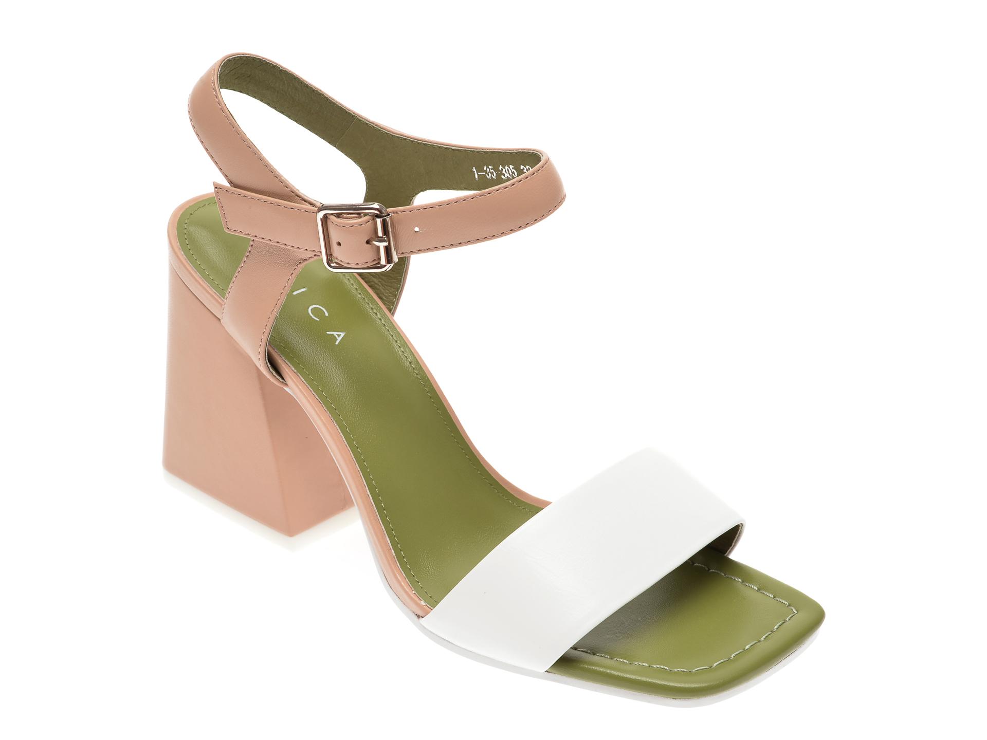 Sandale EPICA bej, 13530, din piele naturala