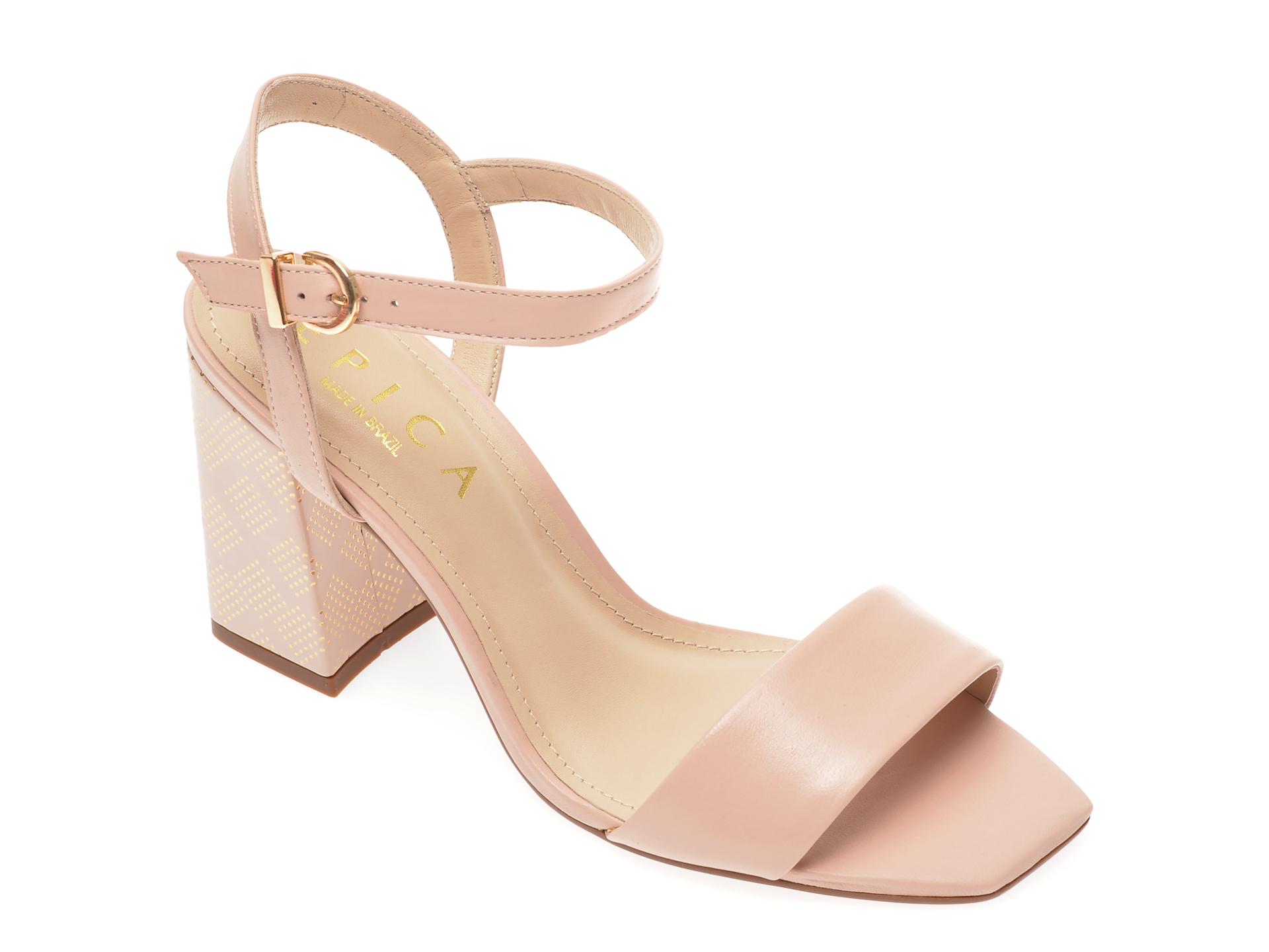 Sandale EPICA bej, 1403407, din piele naturala