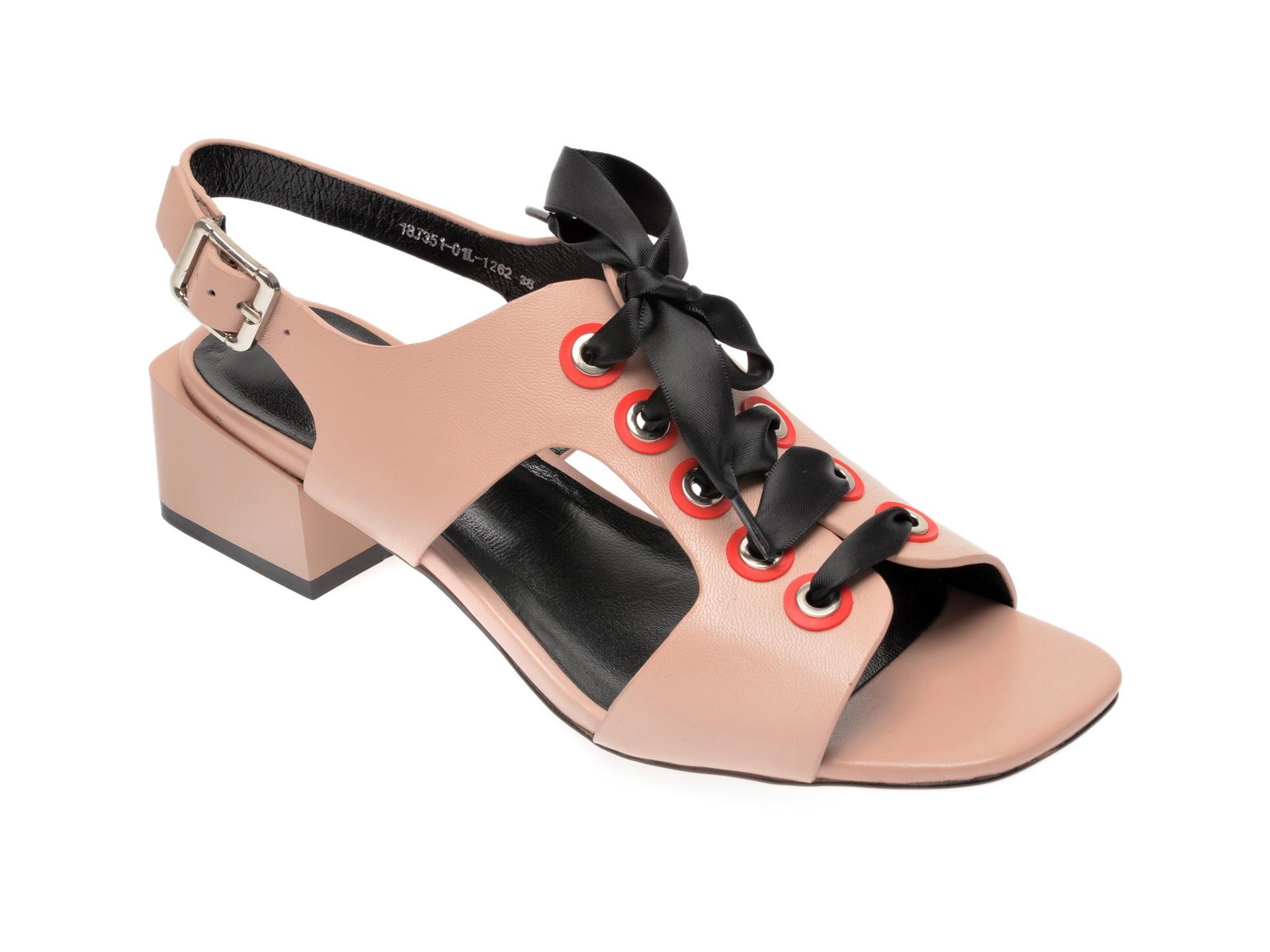Sandale EPICA bej, 18J3510, din piele naturala