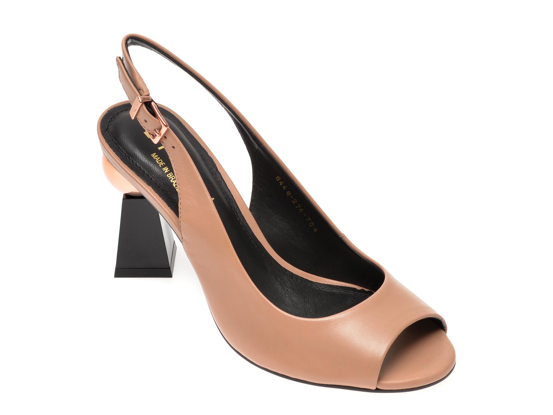 Sandale EPICA bej, 6446274, din piele naturala