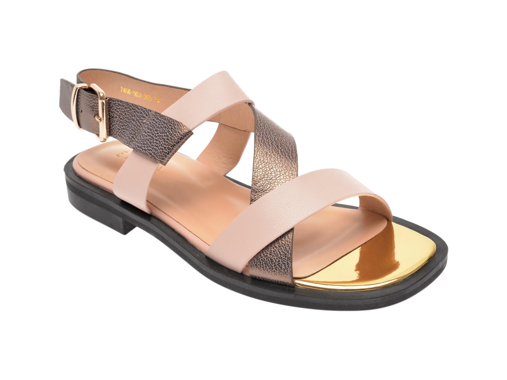 Sandale EPICA bej, 7486907, din piele naturala