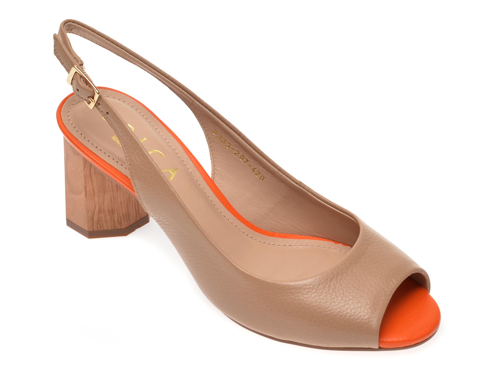 Sandale EPICA bej, 8333207, din piele naturala