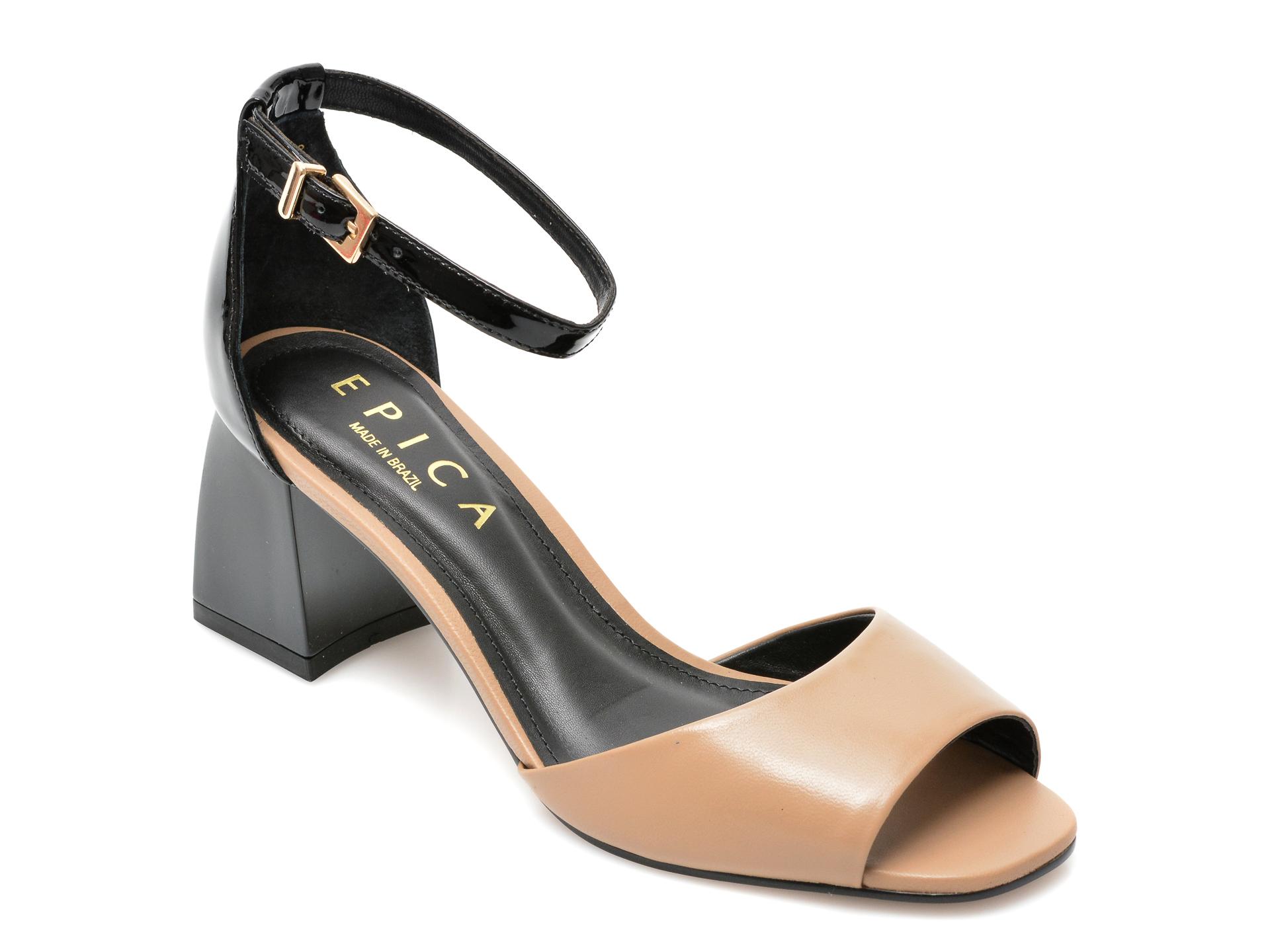 Sandale EPICA bej, 8843623, din piele naturala imagine otter.ro 2021