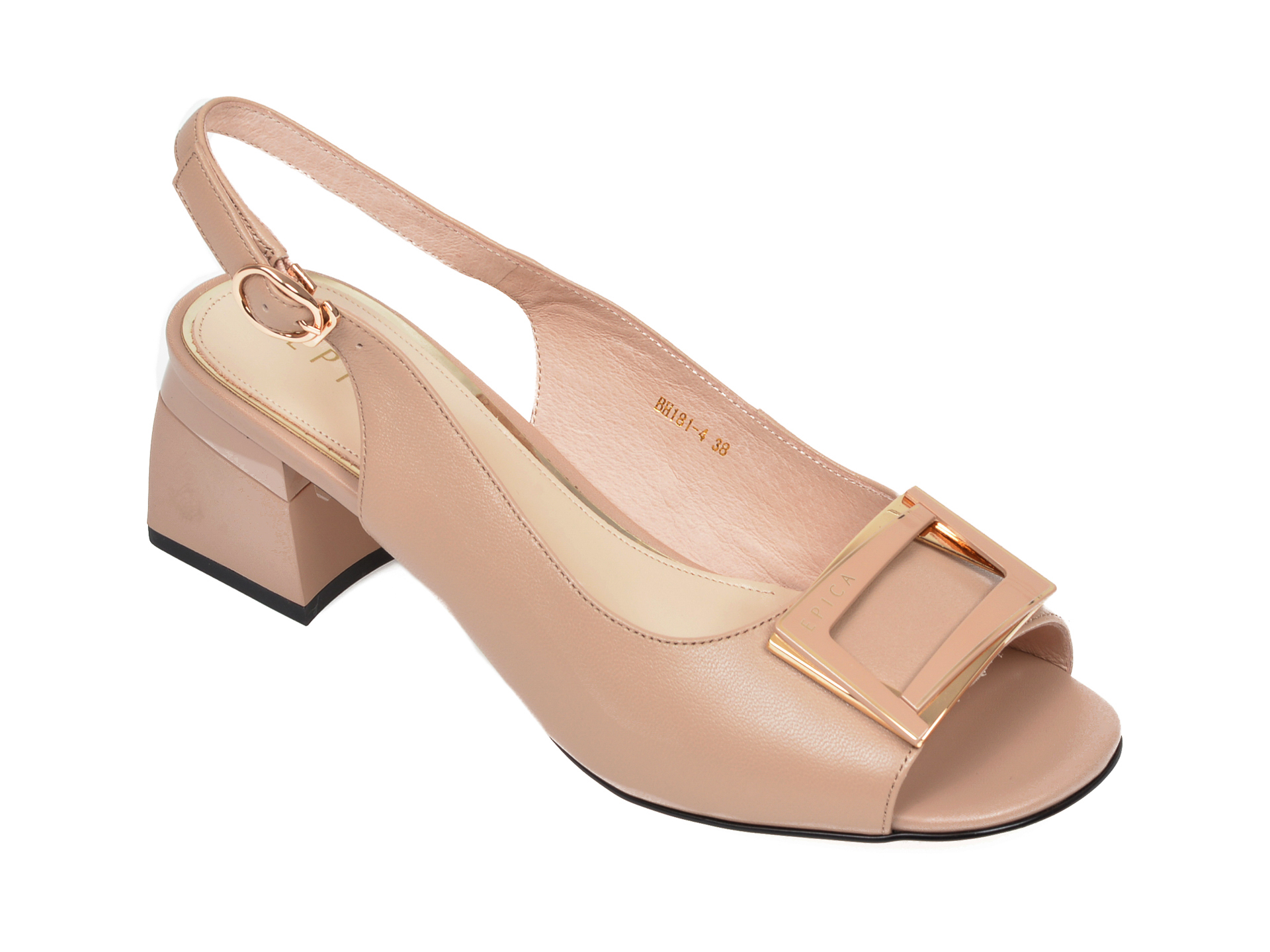 Sandale EPICA bej, BH181, din piele naturala