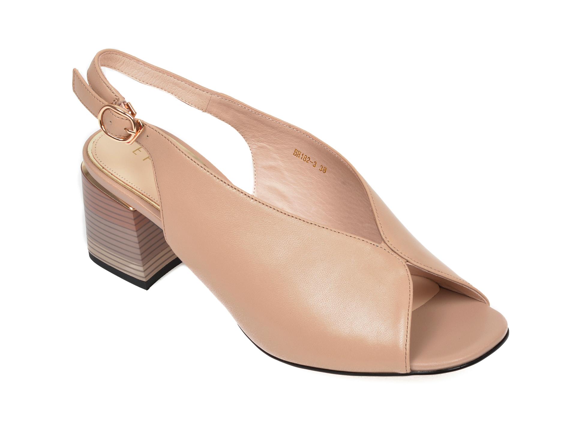 Sandale EPICA bej, BH182, din piele naturala New