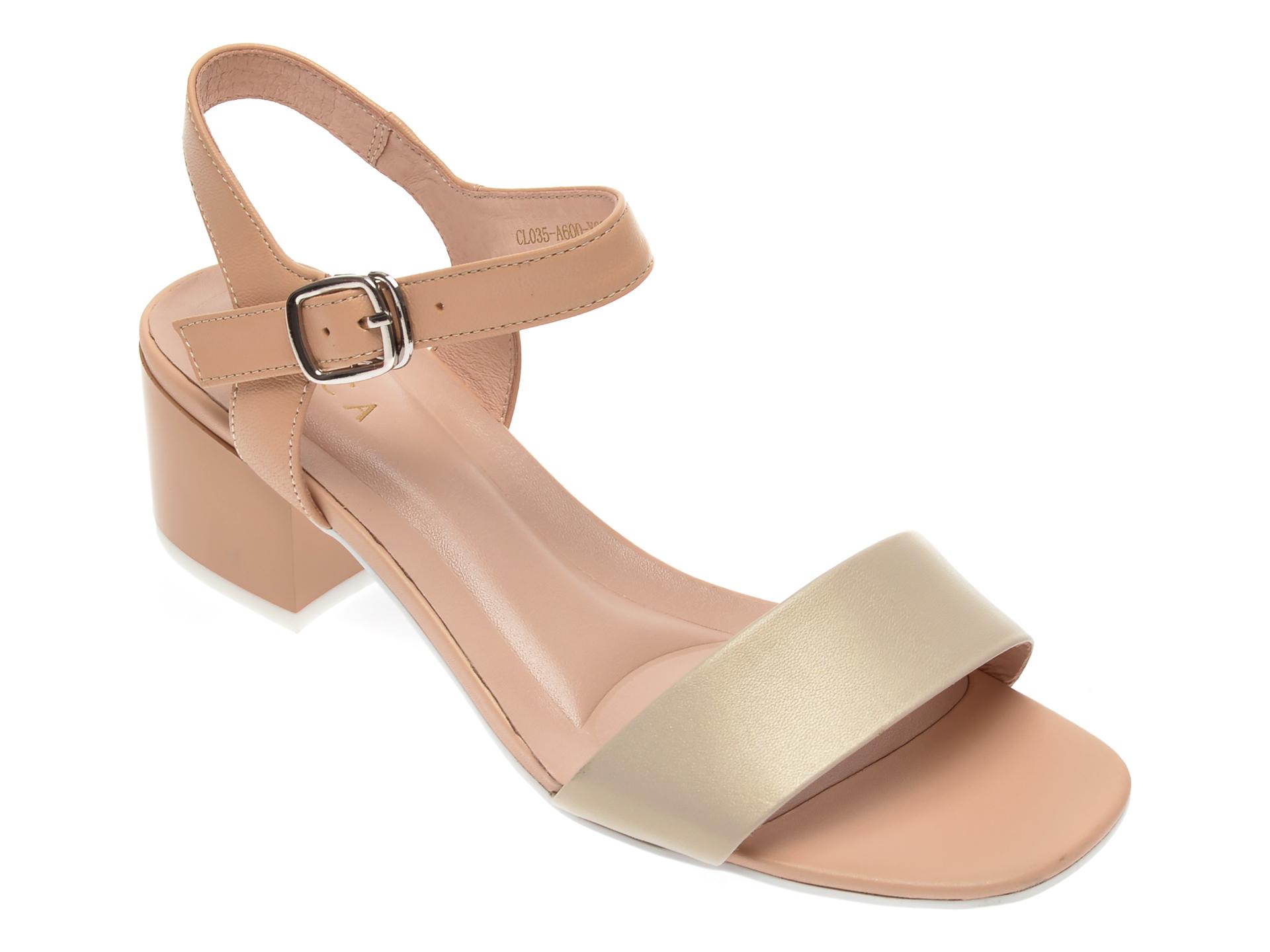 Sandale EPICA bej, CL035A6, din piele naturala