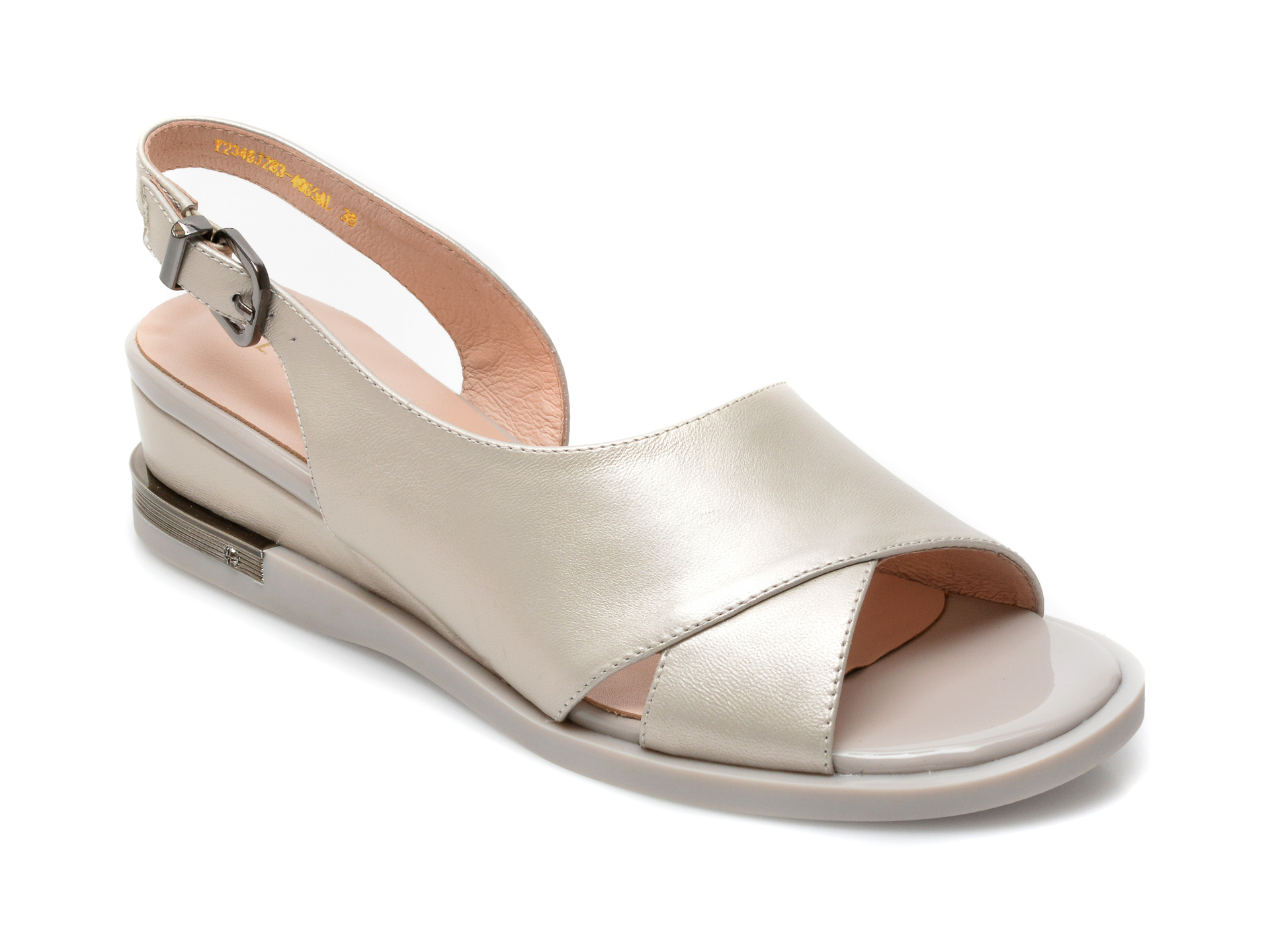 Sandale EPICA bej, Y2346J2, din piele naturala imagine otter.ro 2021