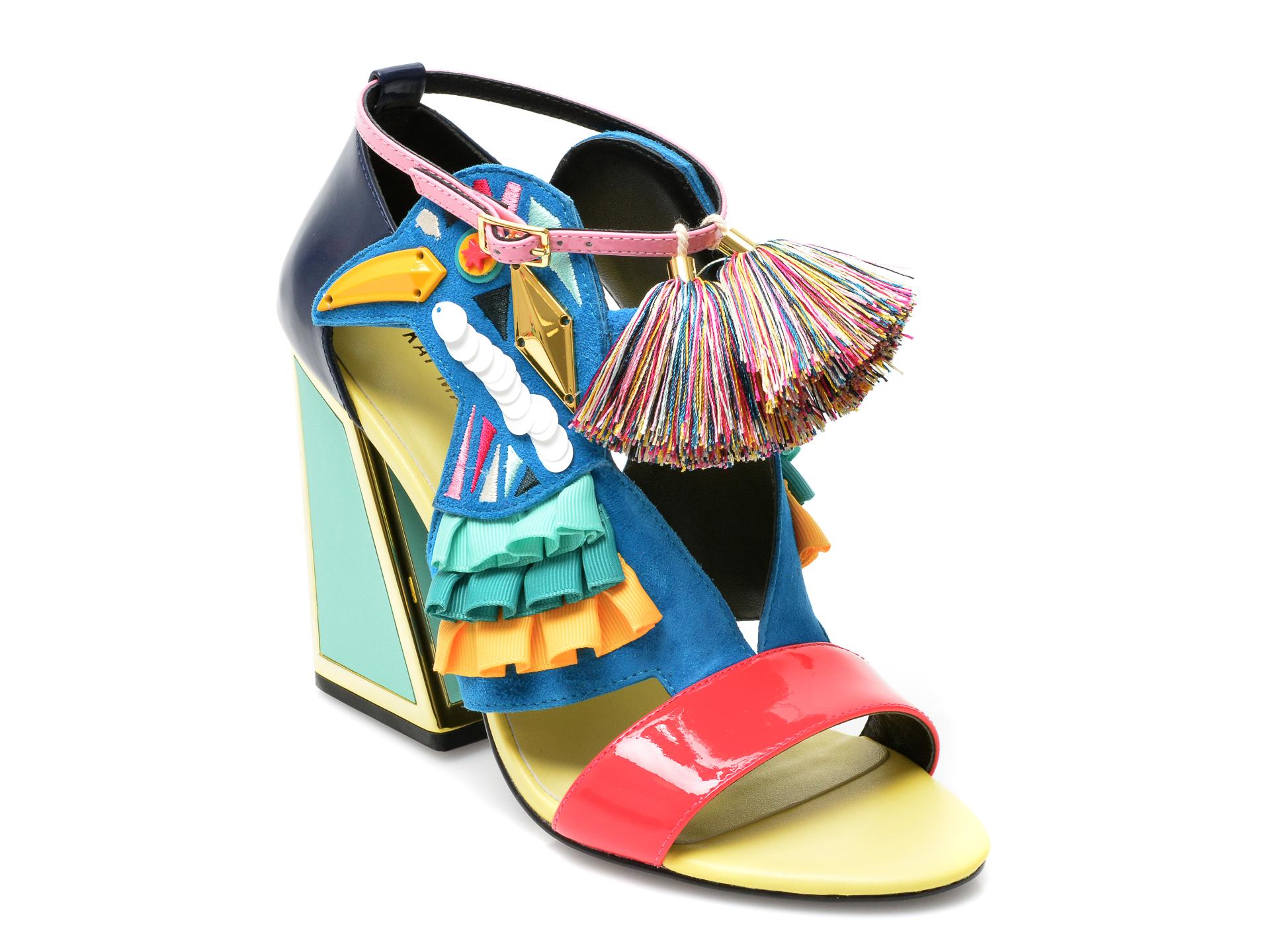 Sandale KAT MACONIE multicolore, AYA, din piele naturala