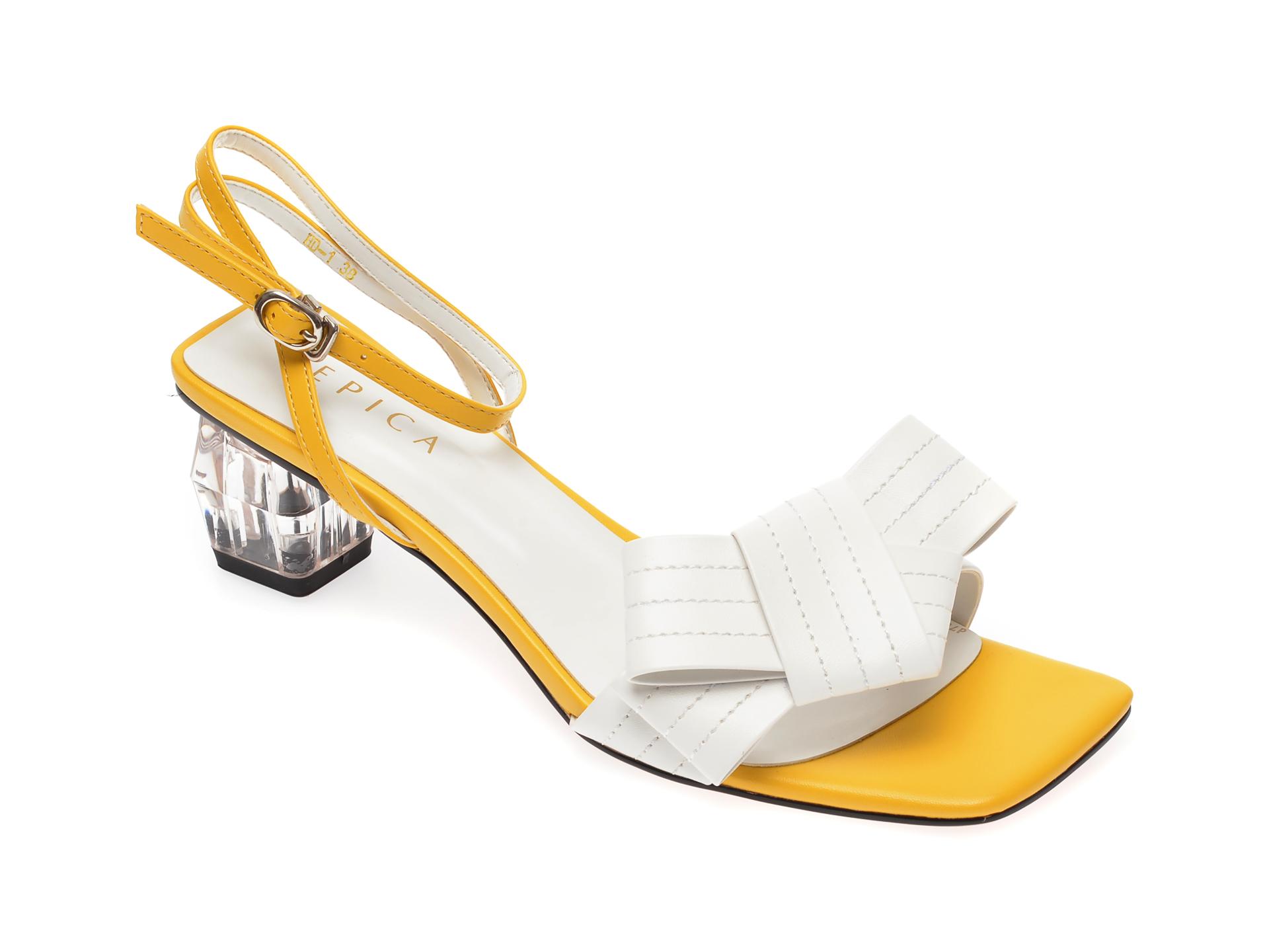 Sandale EPICA galbene, HD1, din piele ecologica