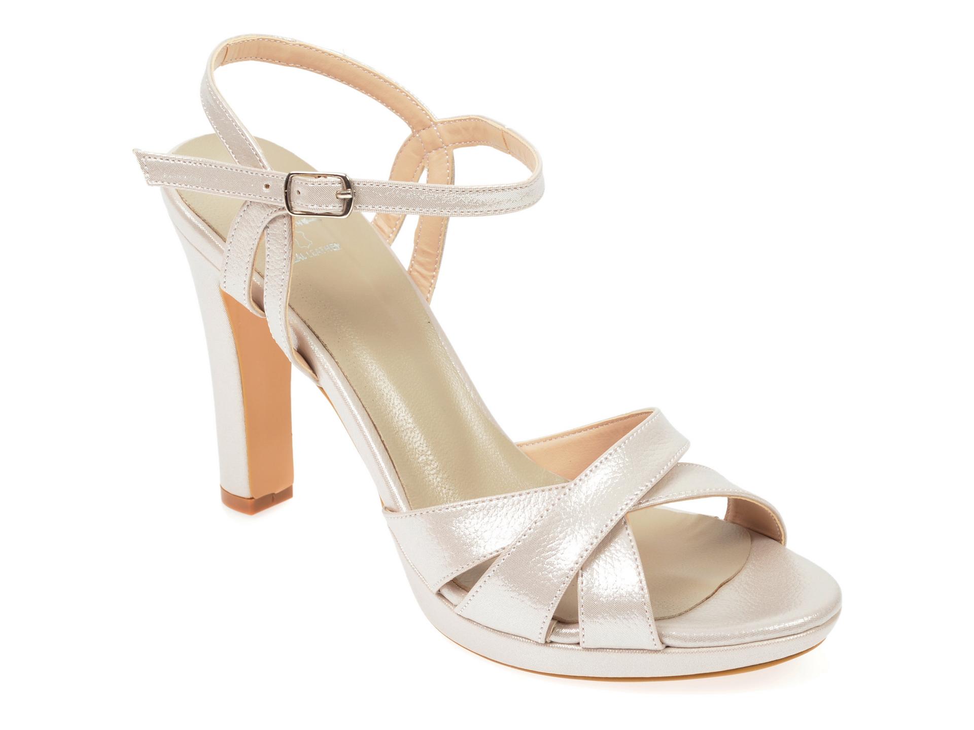 Sandale EPICA gri, 6703007, din piele ecologica