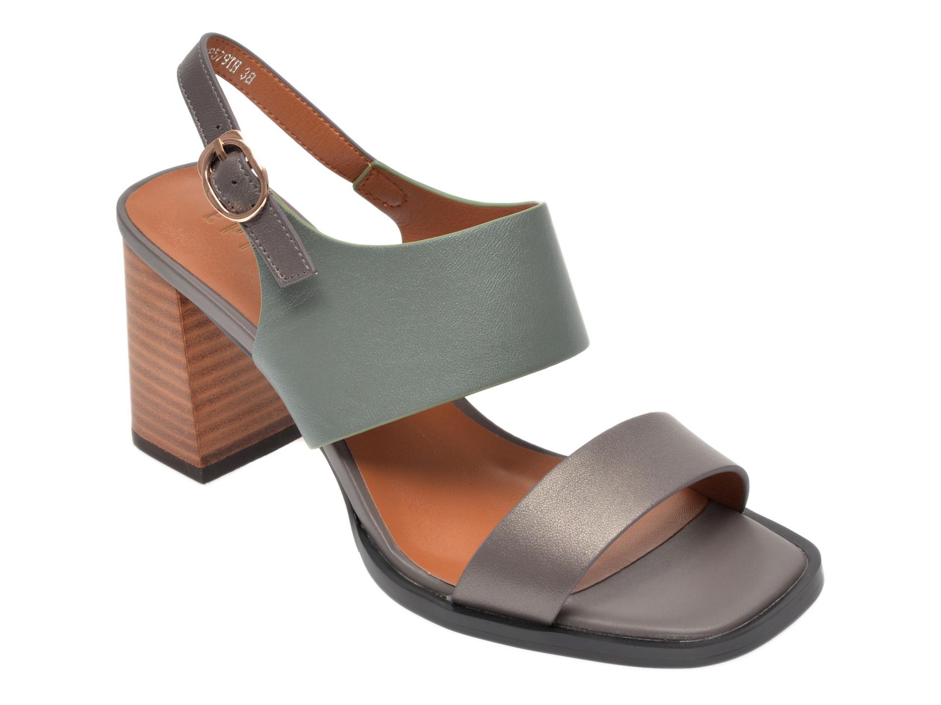 Sandale EPICA gri, 8D1148Y, din piele naturala