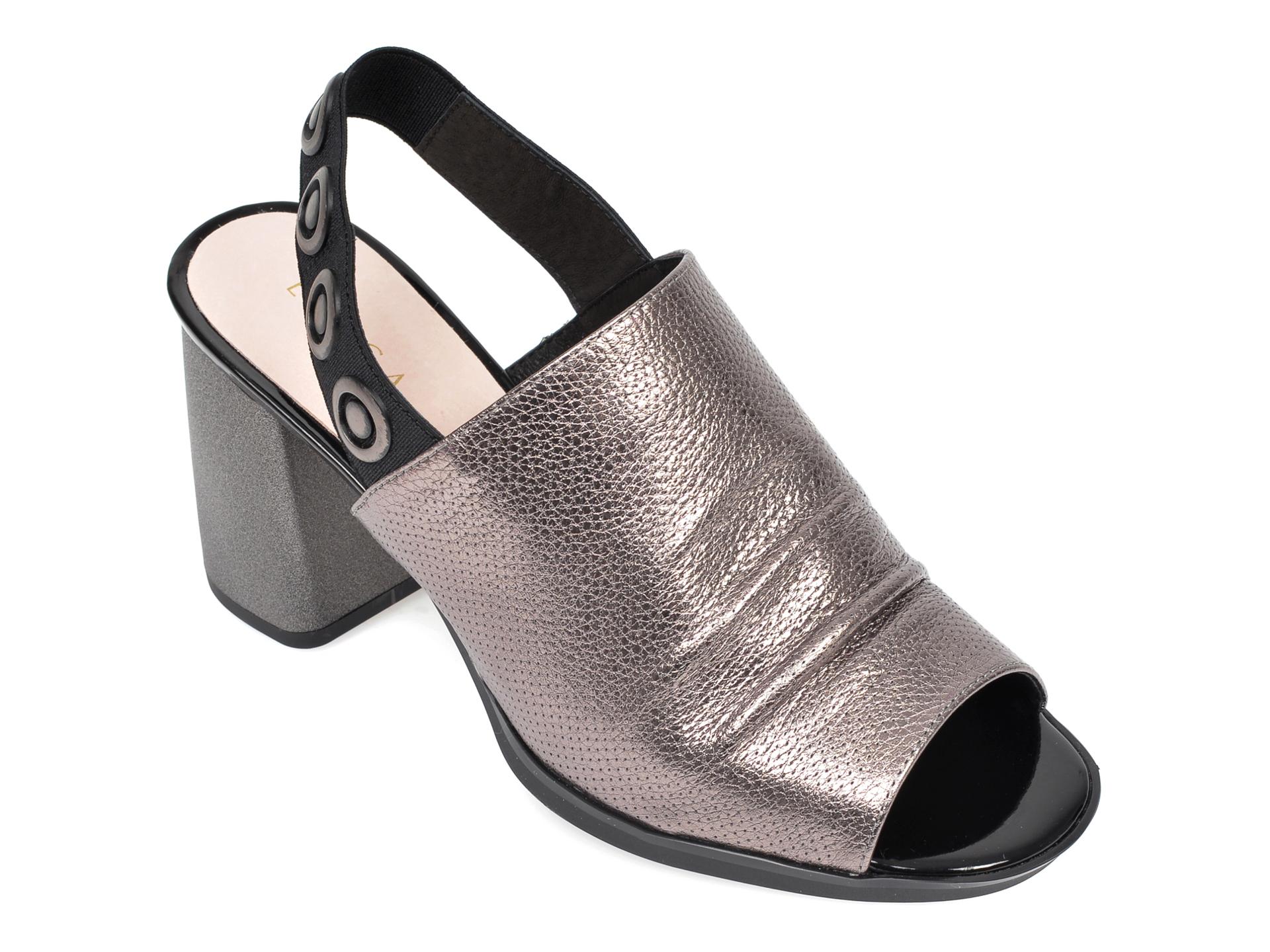 Sandale EPICA gri, 9K245HR, din piele naturala