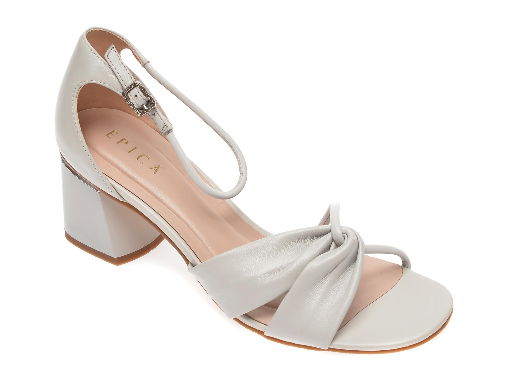 Sandale EPICA gri, CL026Y3, din piele naturala