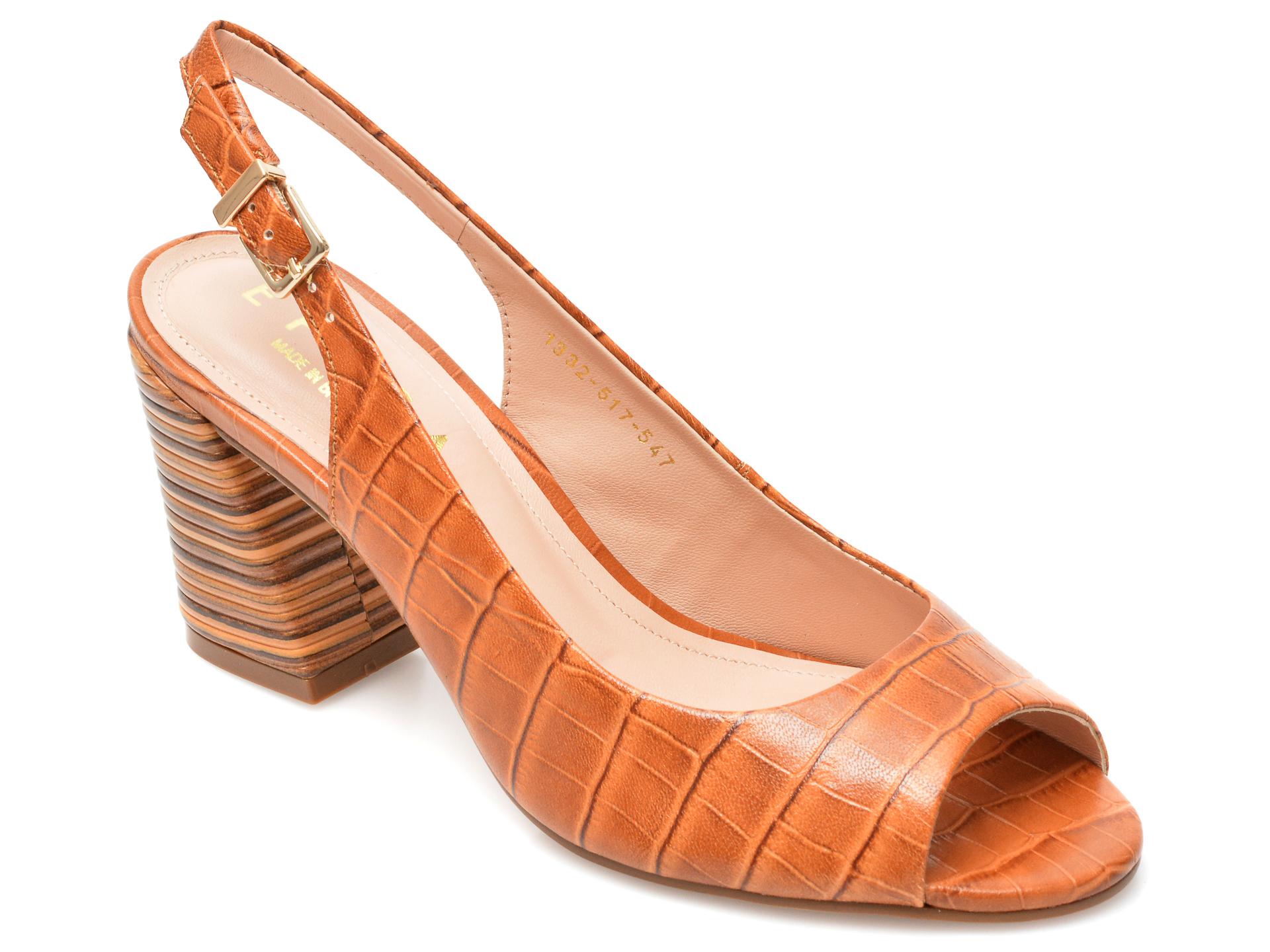 Sandale EPICA maro, 1332547, din piele naturala imagine otter.ro 2021