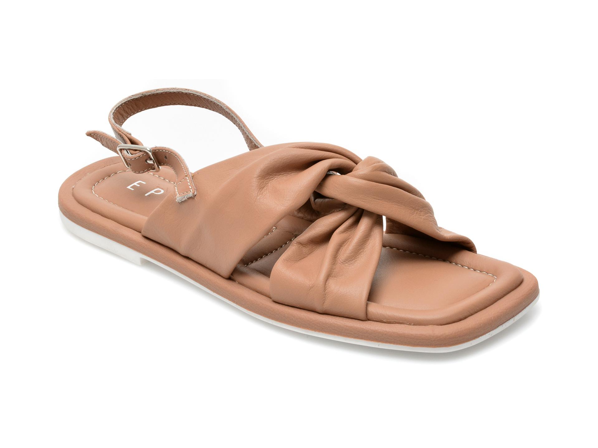 Sandale EPICA maro, 17608, din piele naturala imagine otter.ro 2021