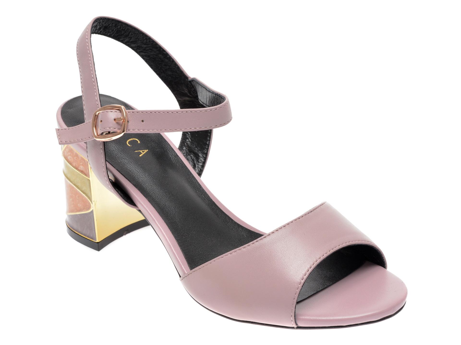 Sandale EPICA mov, 18J4260, din piele naturala imagine