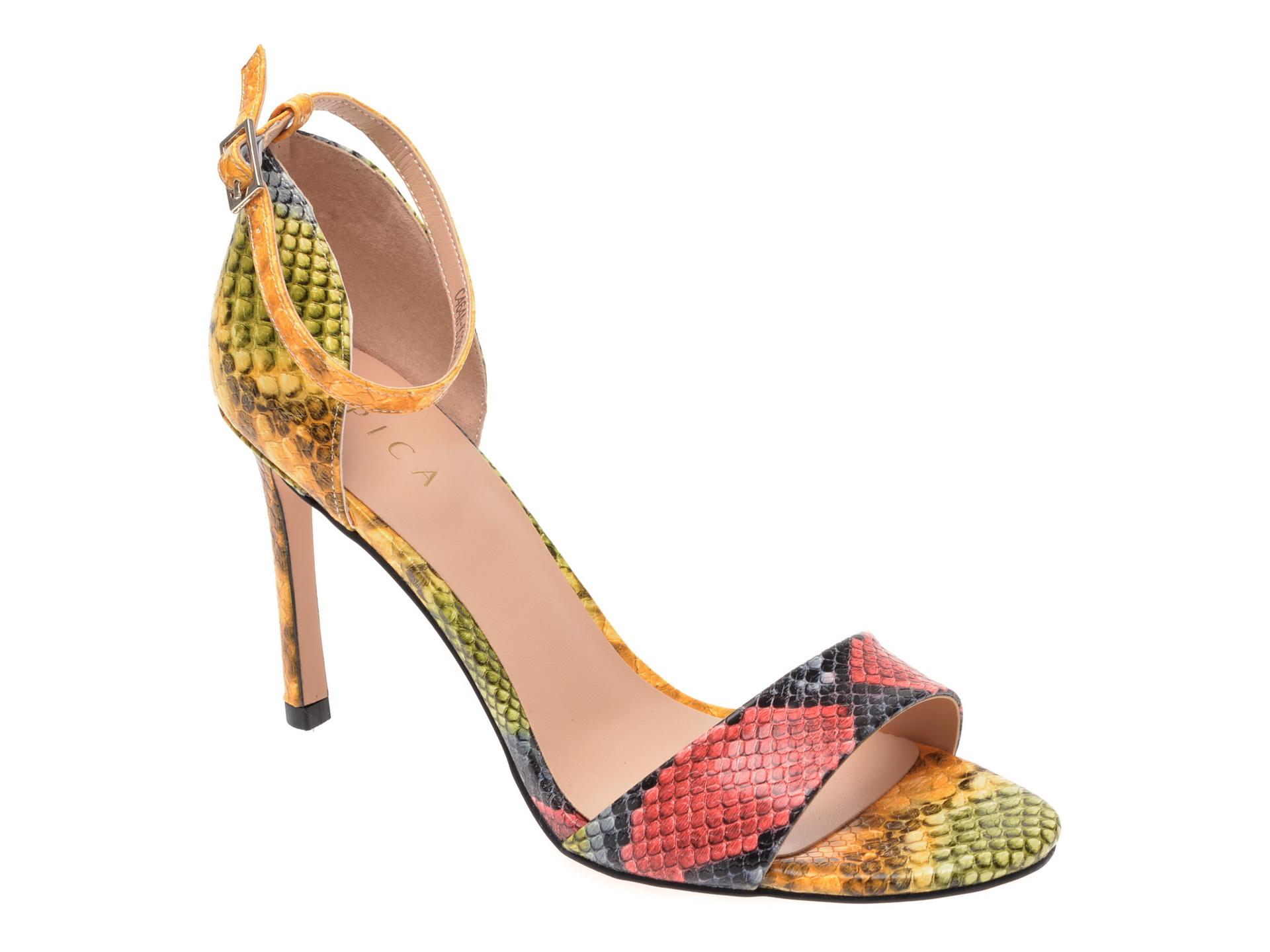 Sandale EPICA multicolor, C464AK1, din piele ecologica