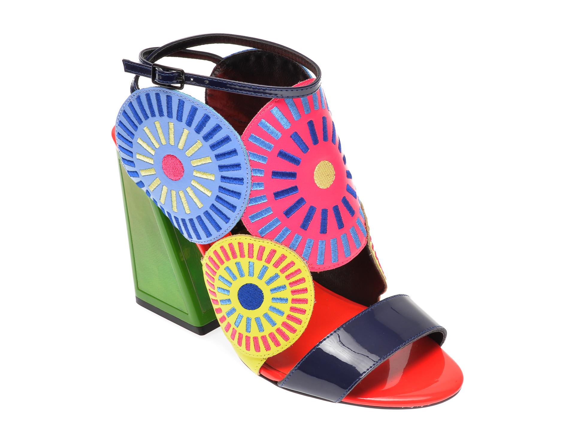 Sandale EPICA multicolor, FRIDA, din piele naturala