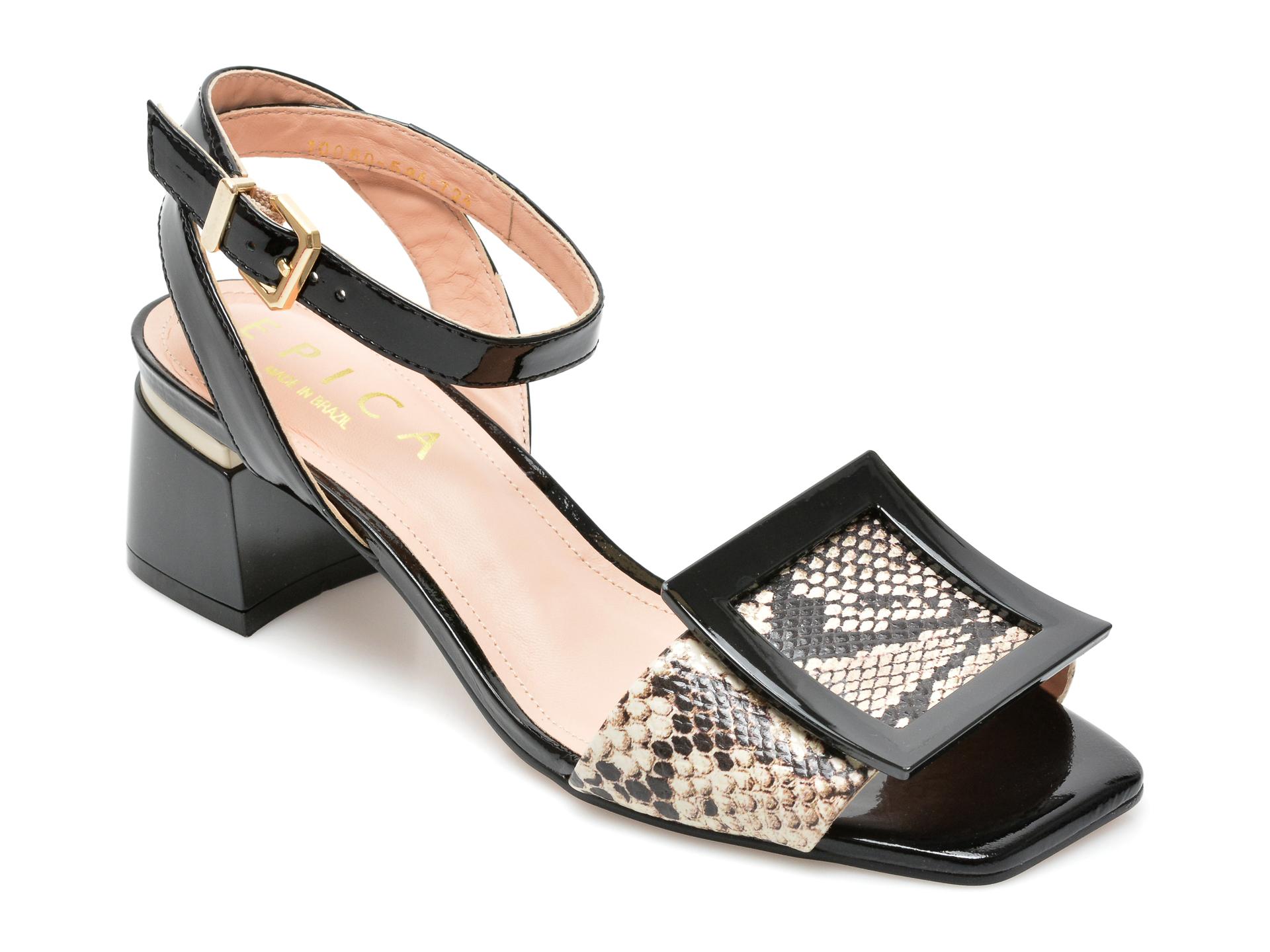Sandale EPICA negre, 1006724, din piele naturala imagine otter.ro 2021