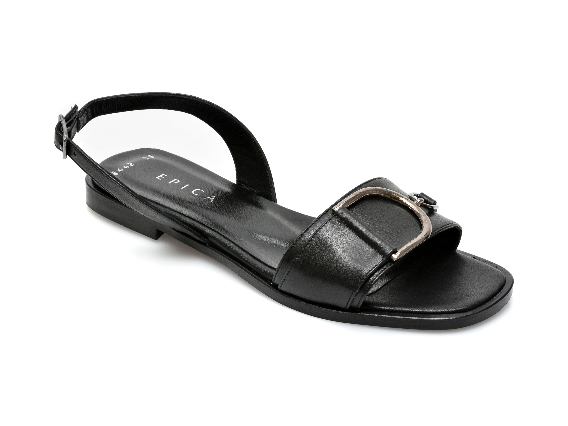Sandale EPICA negre, 3118442, din piele naturala imagine otter.ro 2021
