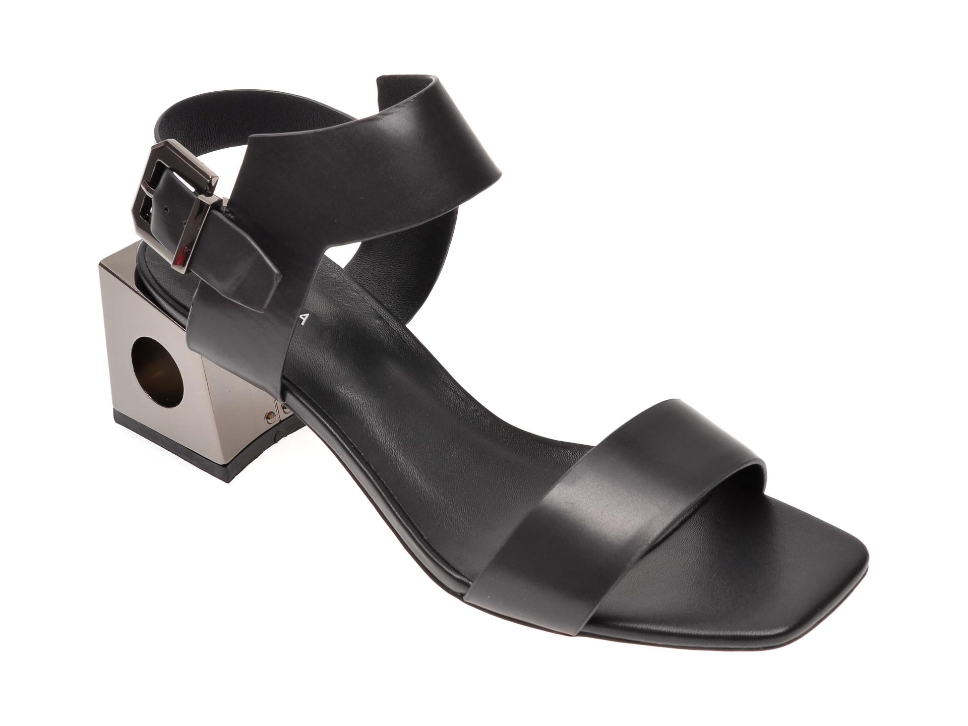 Sandale EPICA negre, 6505053, din piele naturala