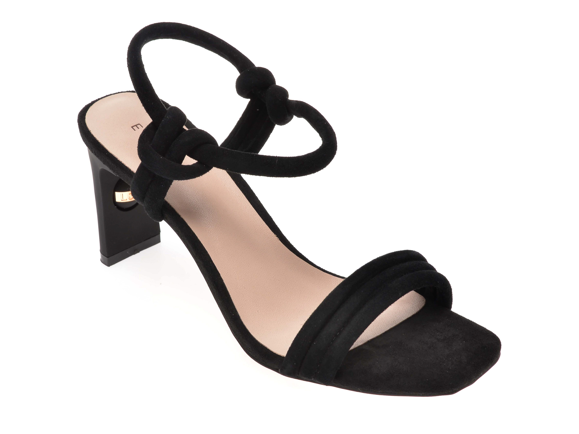 Sandale EPICA negre, 6506803, din piele intoarsa