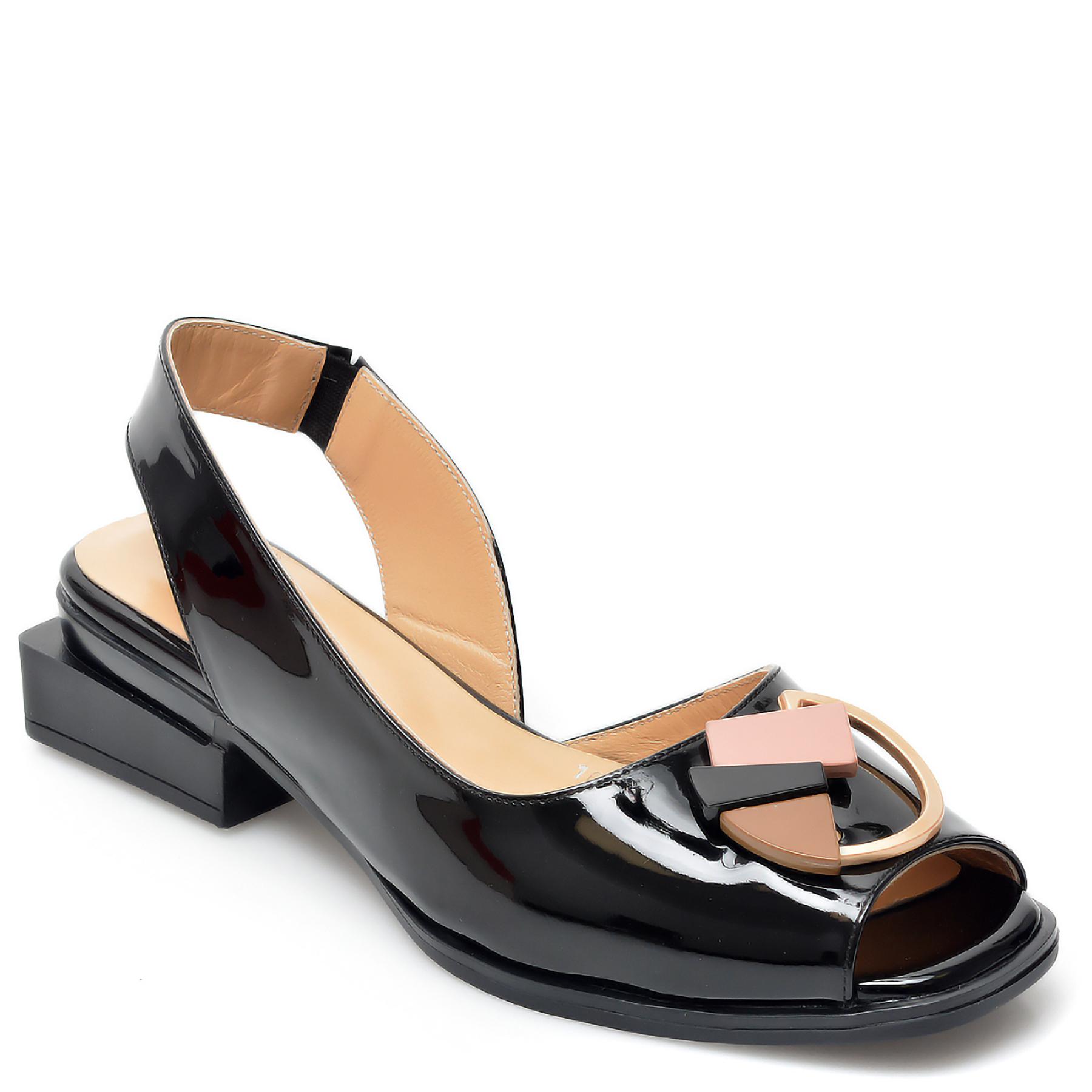 Sandale EPICA negre, 661082, din piele naturala lacuita imagine otter.ro 2021