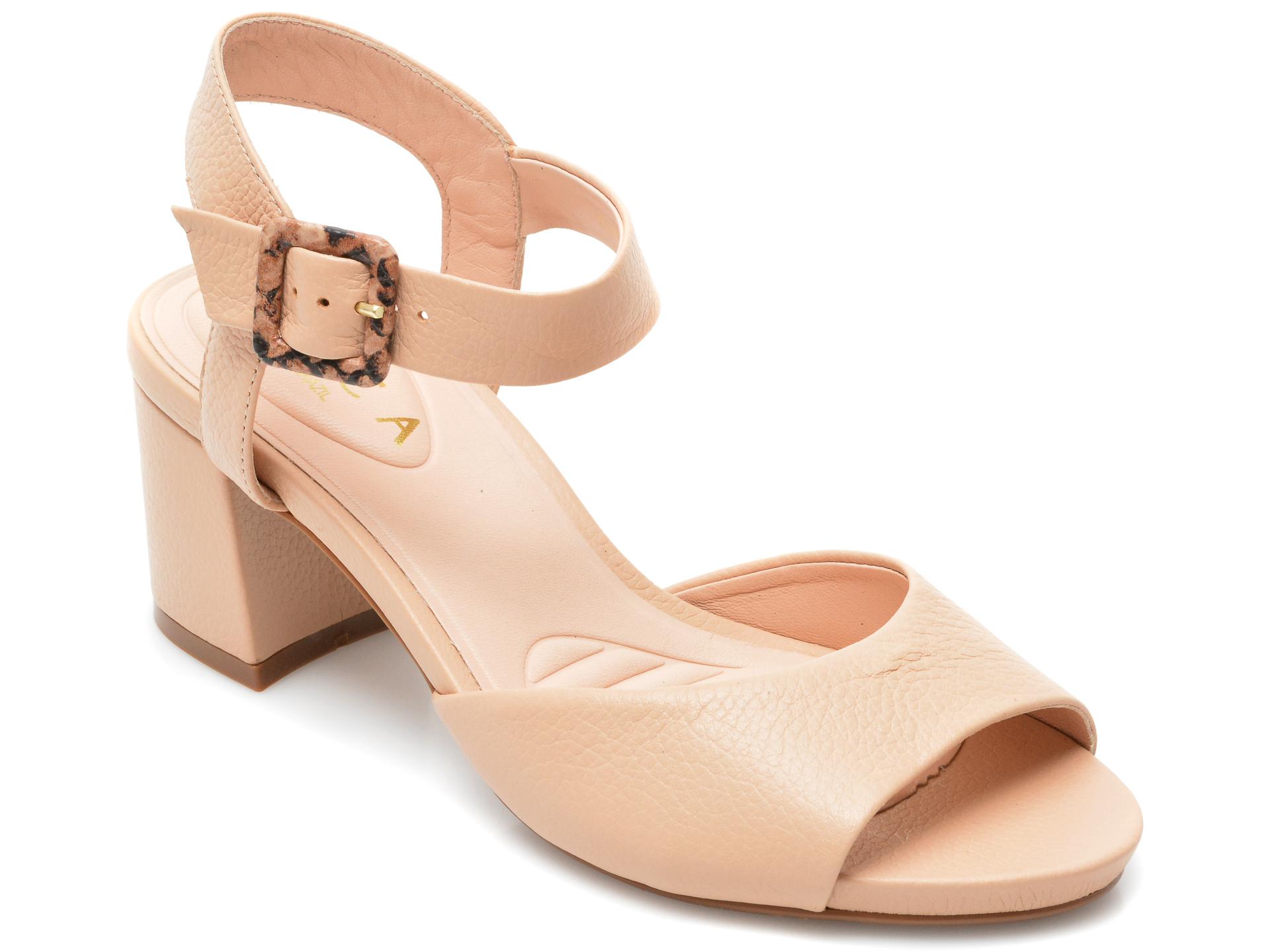 Sandale EPICA nude, 1506695, din piele naturala imagine otter.ro 2021