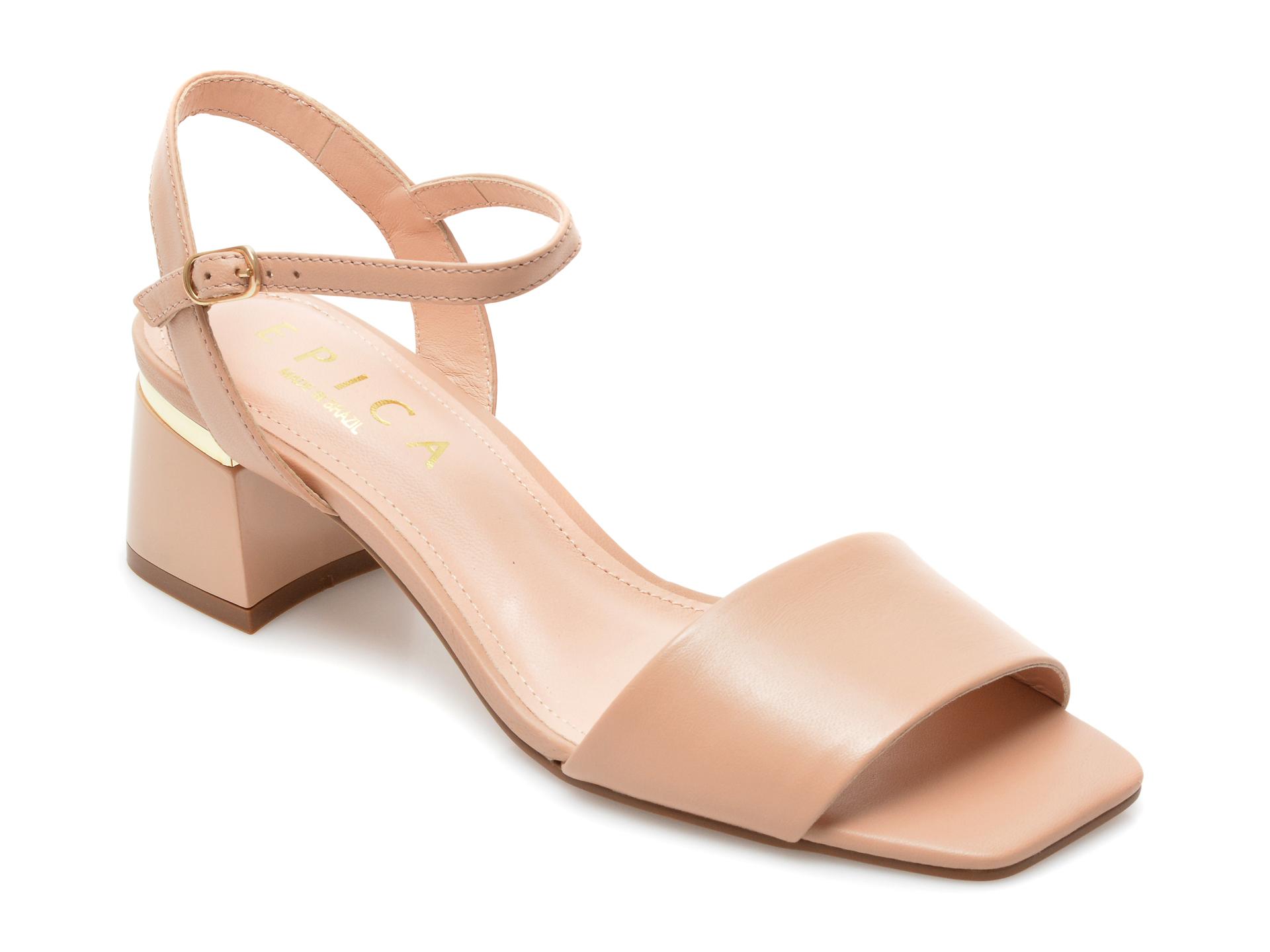 Sandale EPICA nude, 1752724, din piele naturala imagine otter.ro 2021