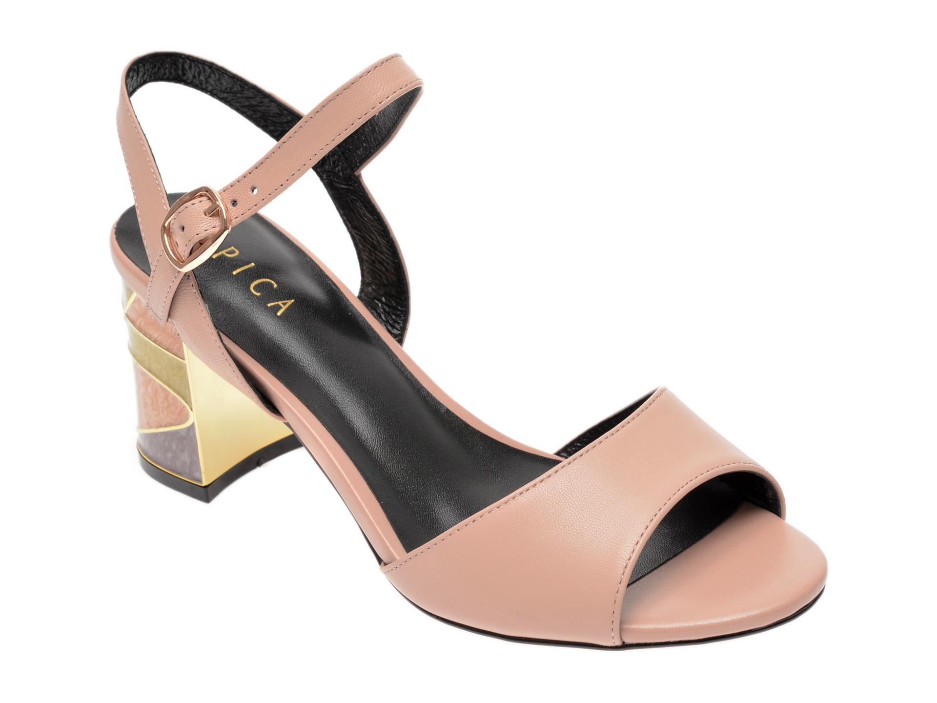 Sandale EPICA nude, 18J4260, din piele naturala imagine