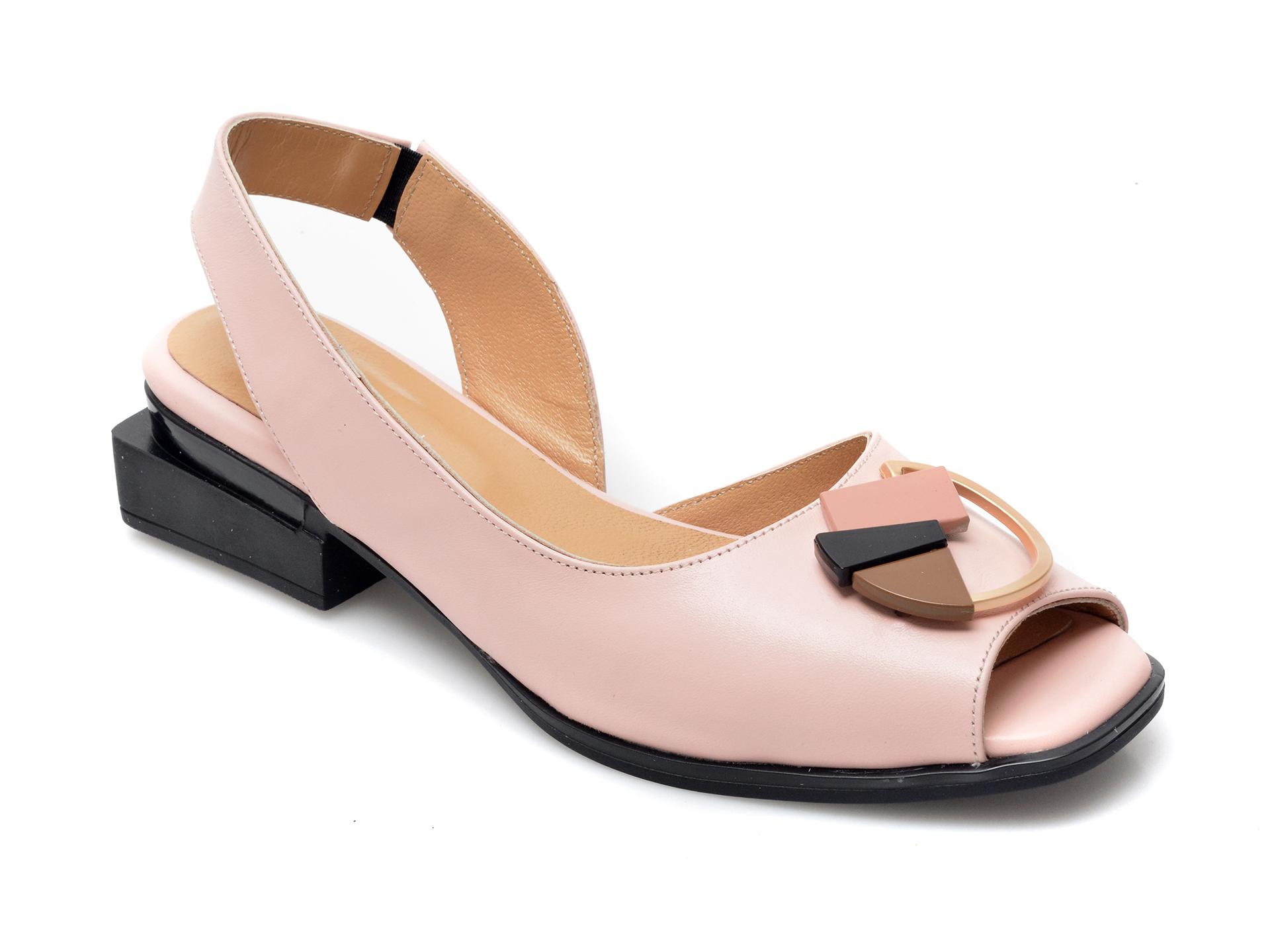 Sandale EPICA nude, 661082, din piele naturala imagine otter.ro 2021