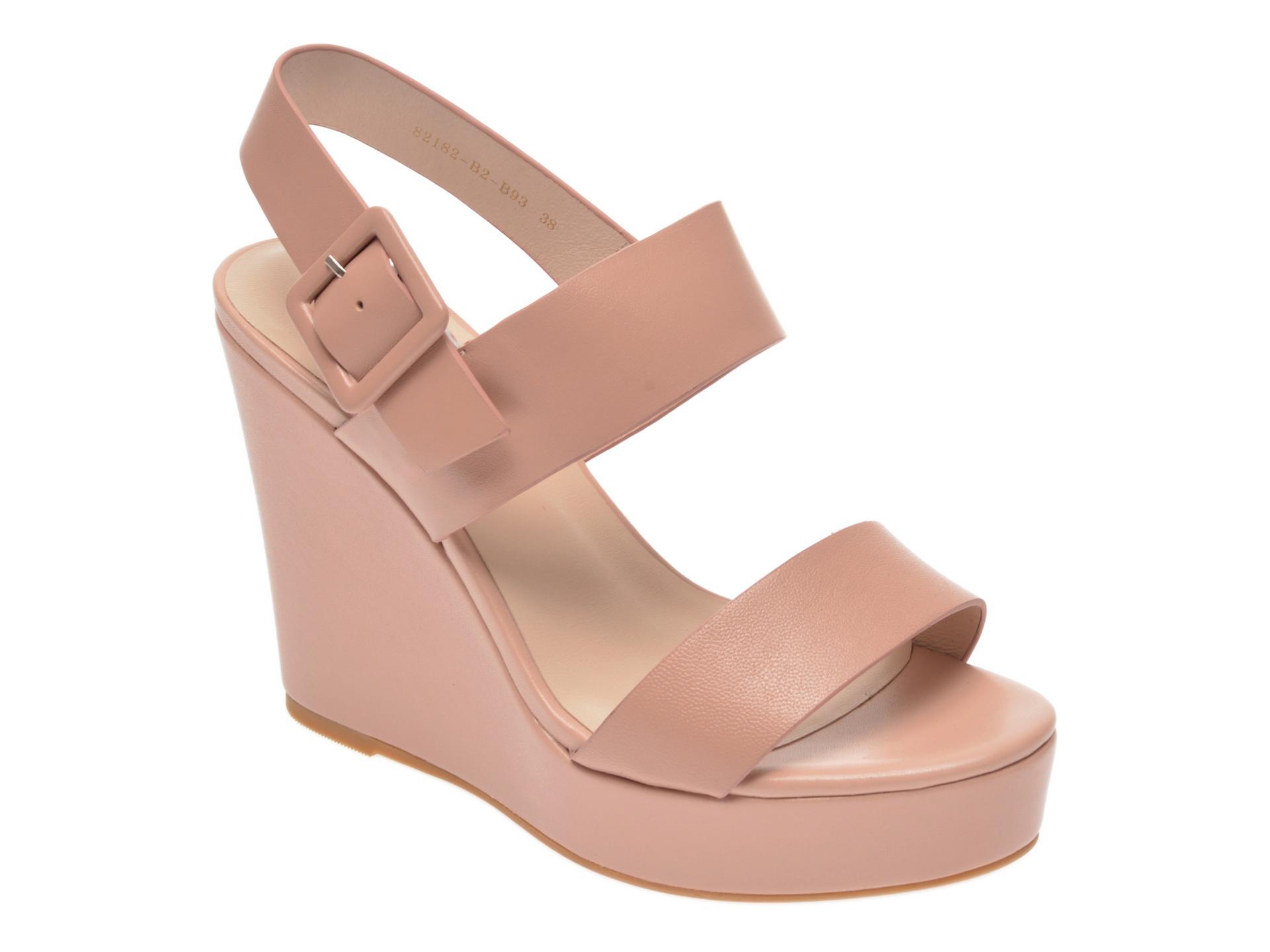 Sandale EPICA nude, 82182B2, din piele naturala