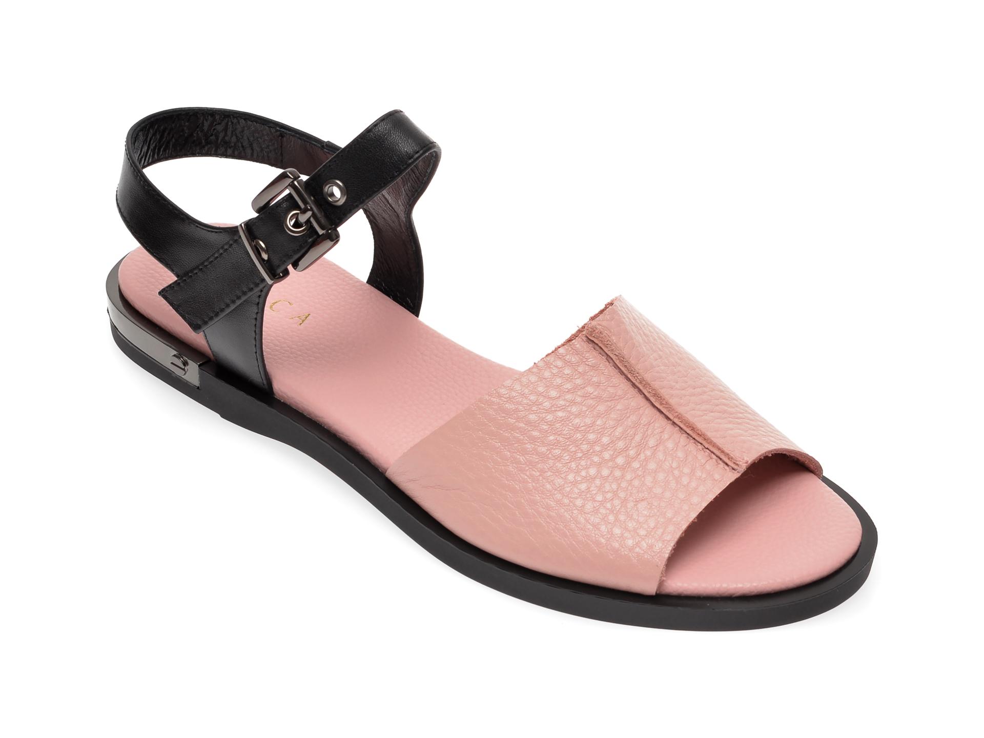 Sandale EPICA roz, CL027E0, din piele naturala