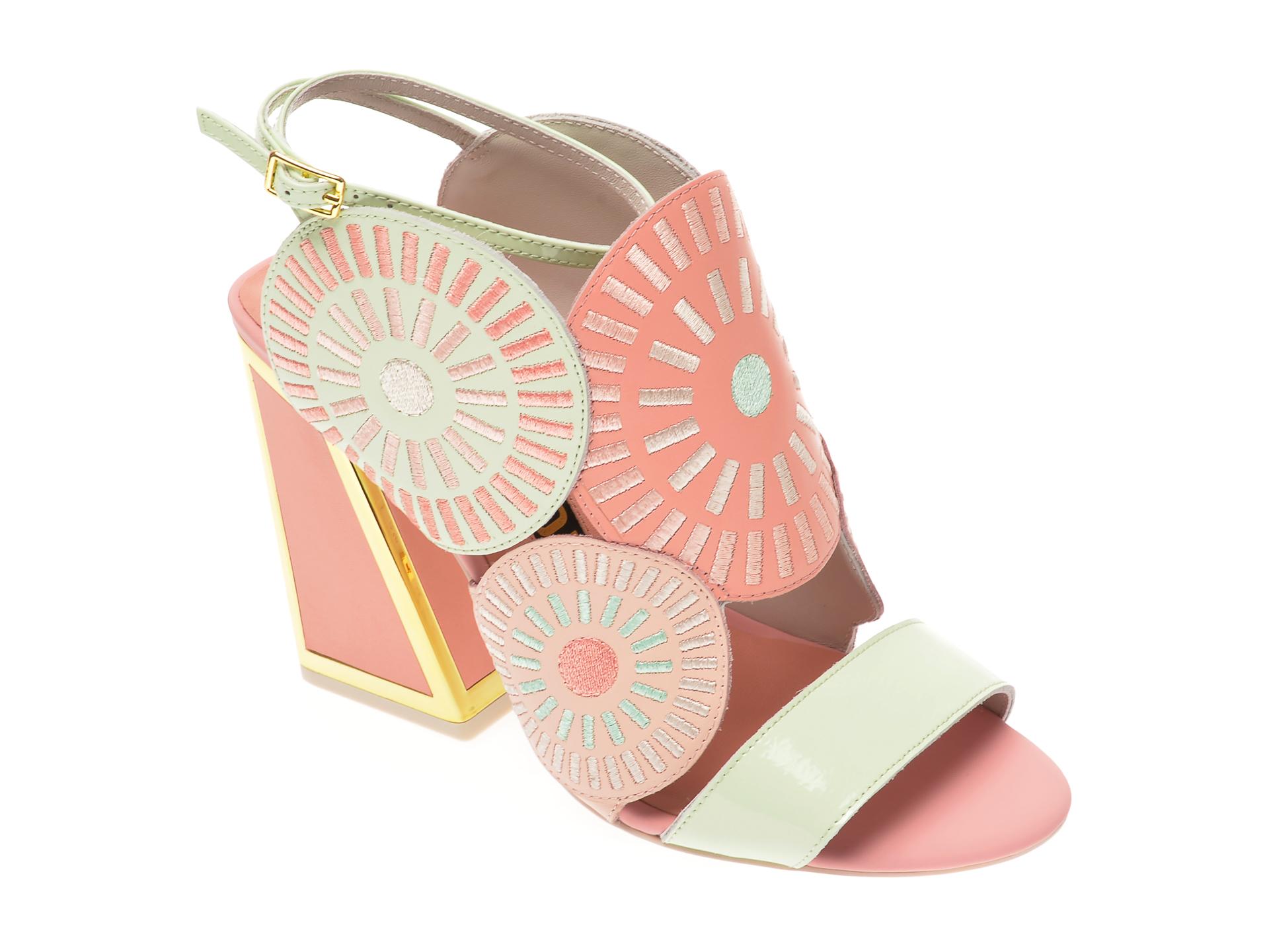 Sandale EPICA roz, FRIDA, din piele naturala