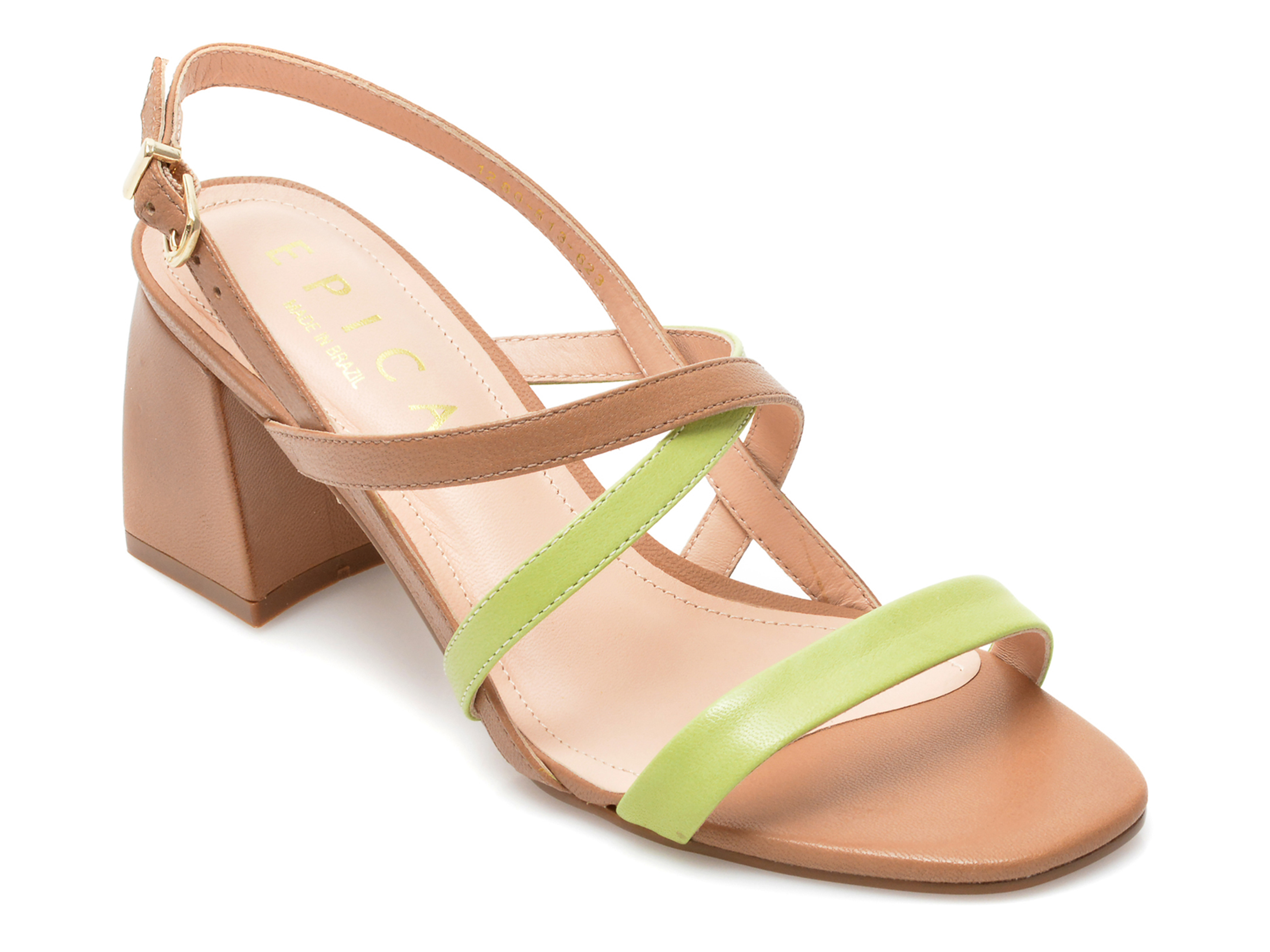 Sandale EPICA verde, 1280623, din piele naturala imagine otter.ro 2021