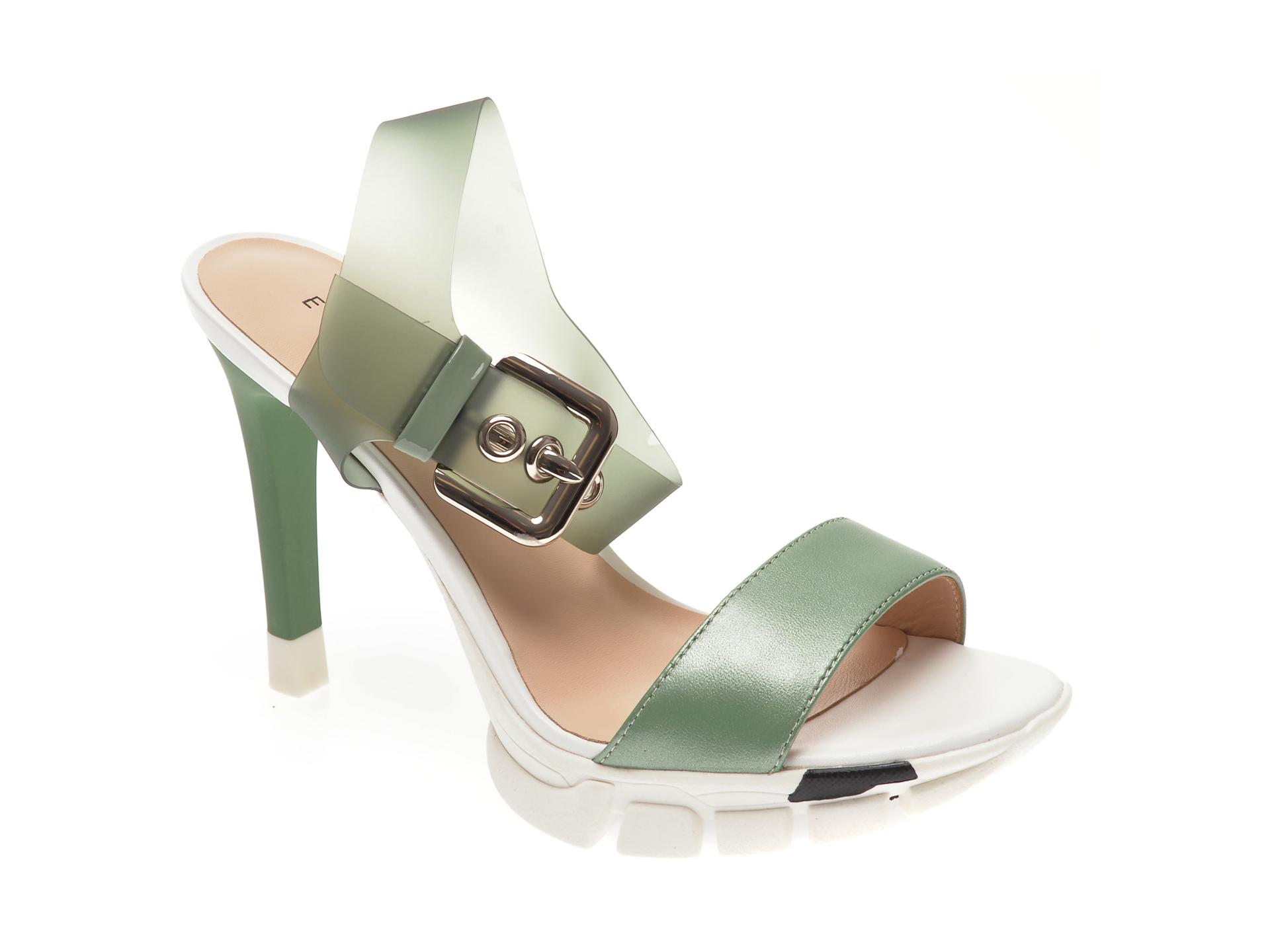 Sandale EPICA verzi, 1831630, din piele naturala