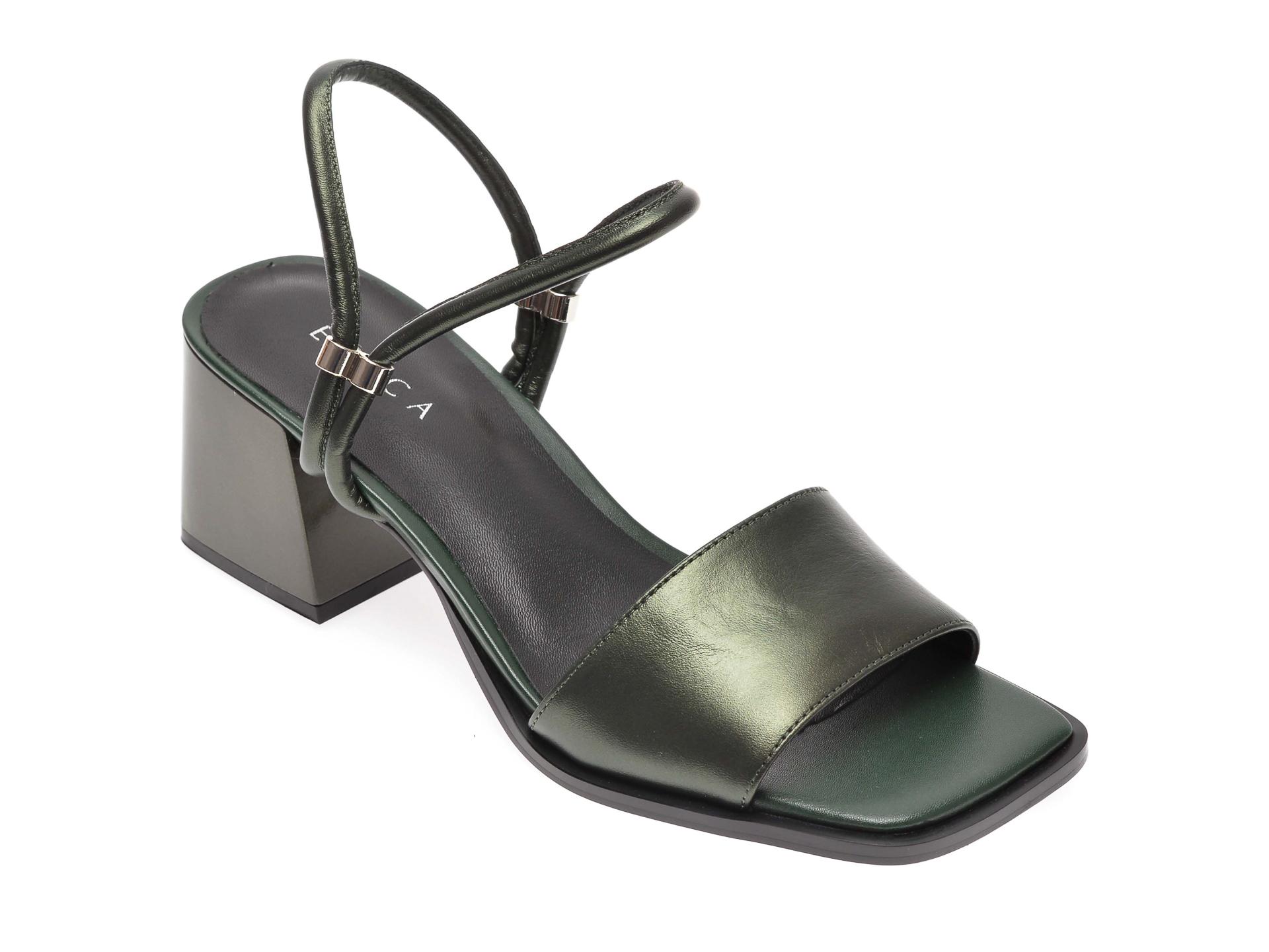 Sandale EPICA verzi, 70332, din piele naturala