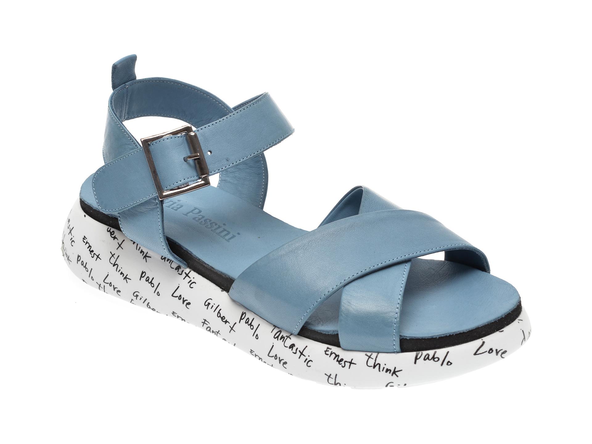 Sandale FLAVIA PASSINI albastre, 0101063, din piele naturala