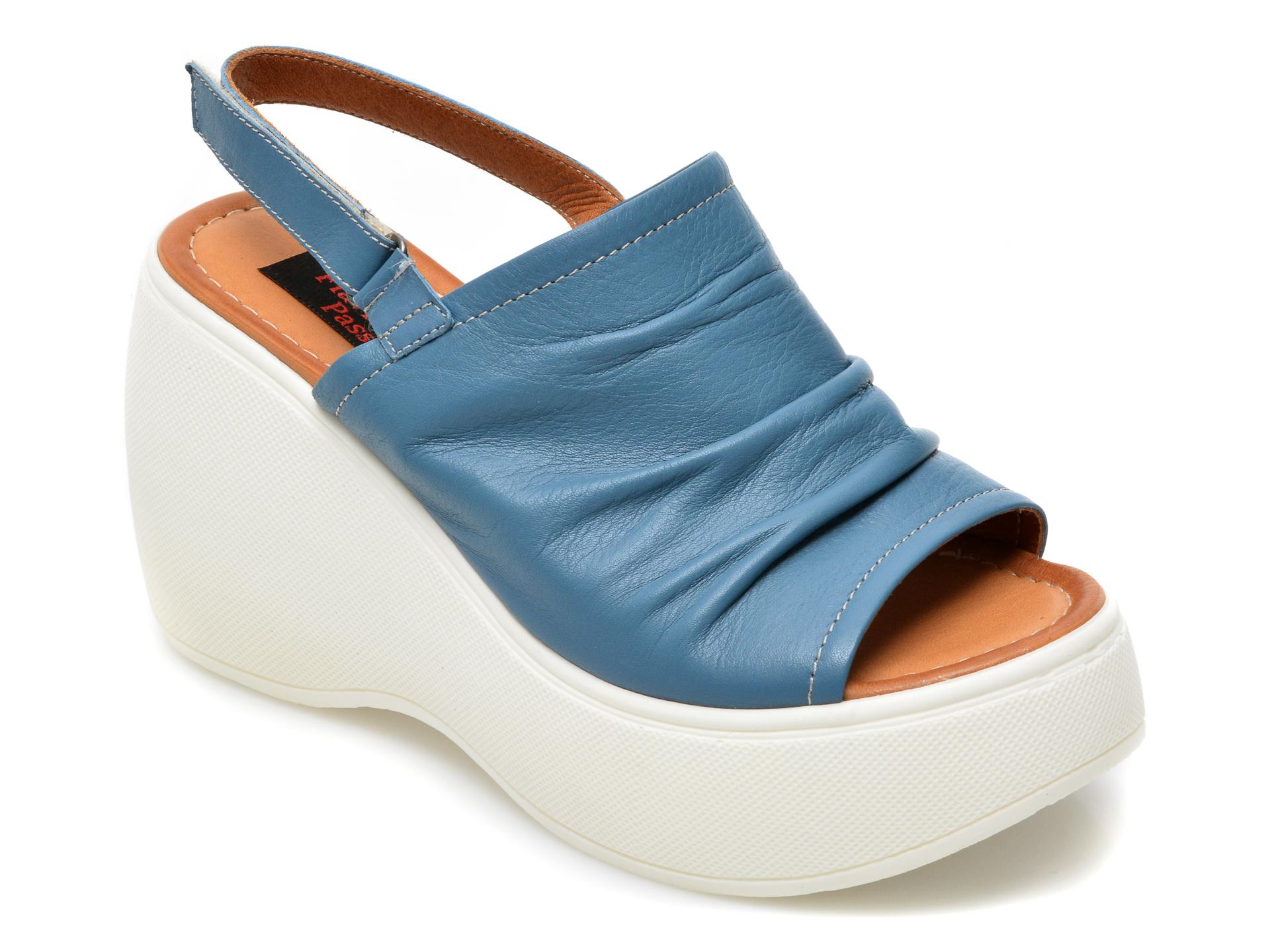 Sandale FLAVIA PASSINI albastre, 1111, din piele naturala imagine otter.ro